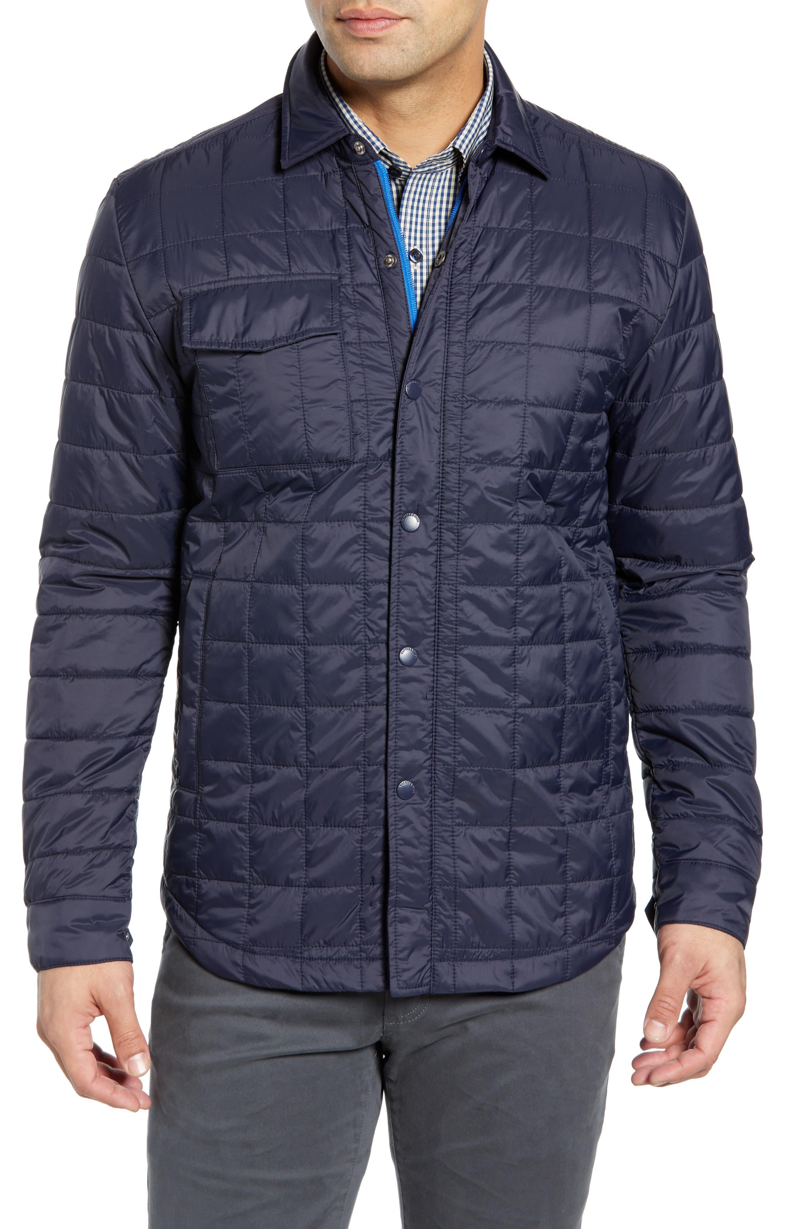 Cutter & Buck Rainier Primaloft Insulated Shirt Jacket, Blue