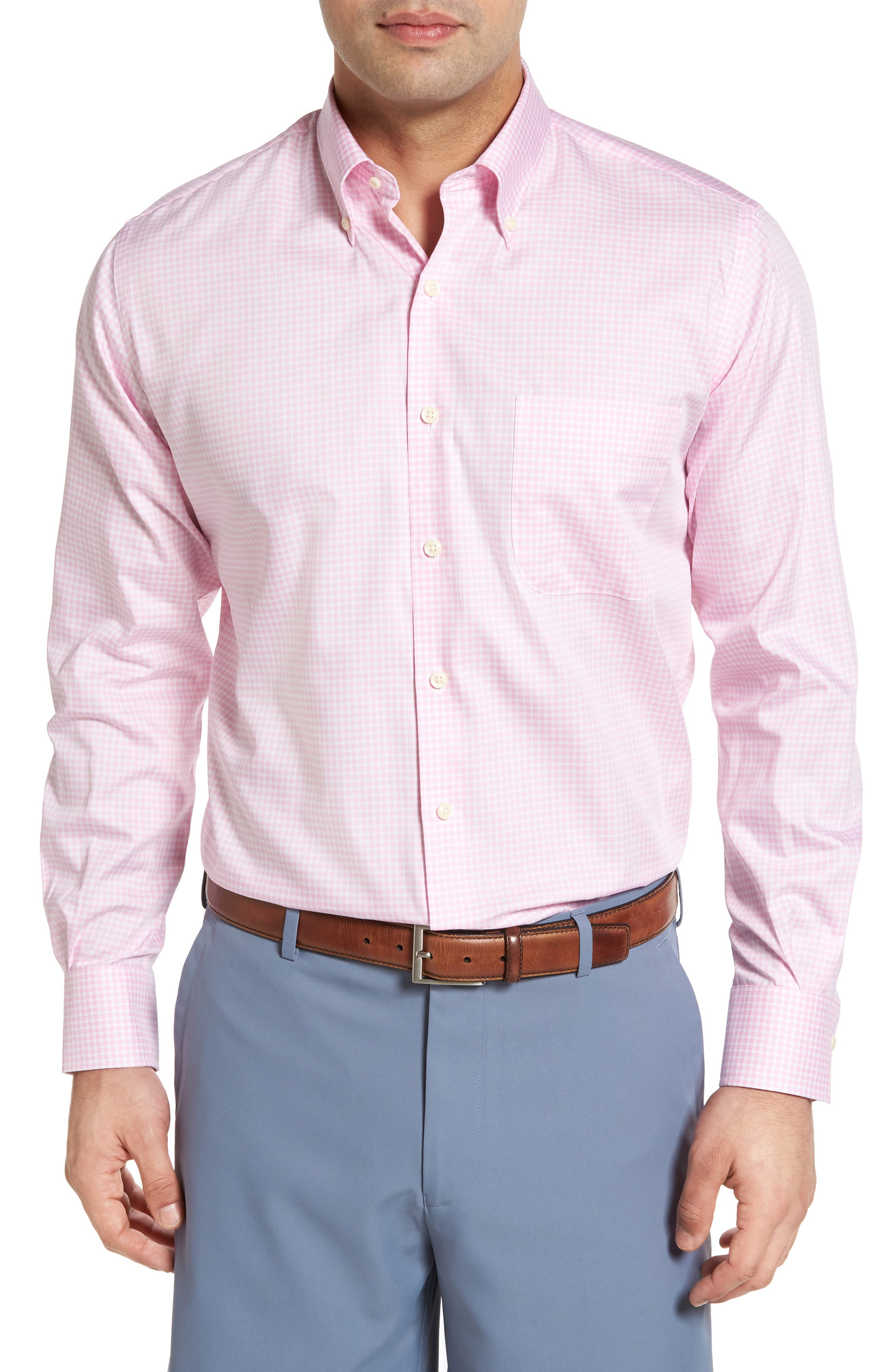 Crown Soft Gingham Regular Fit Sport Shirt,                             Main thumbnail 6, color,