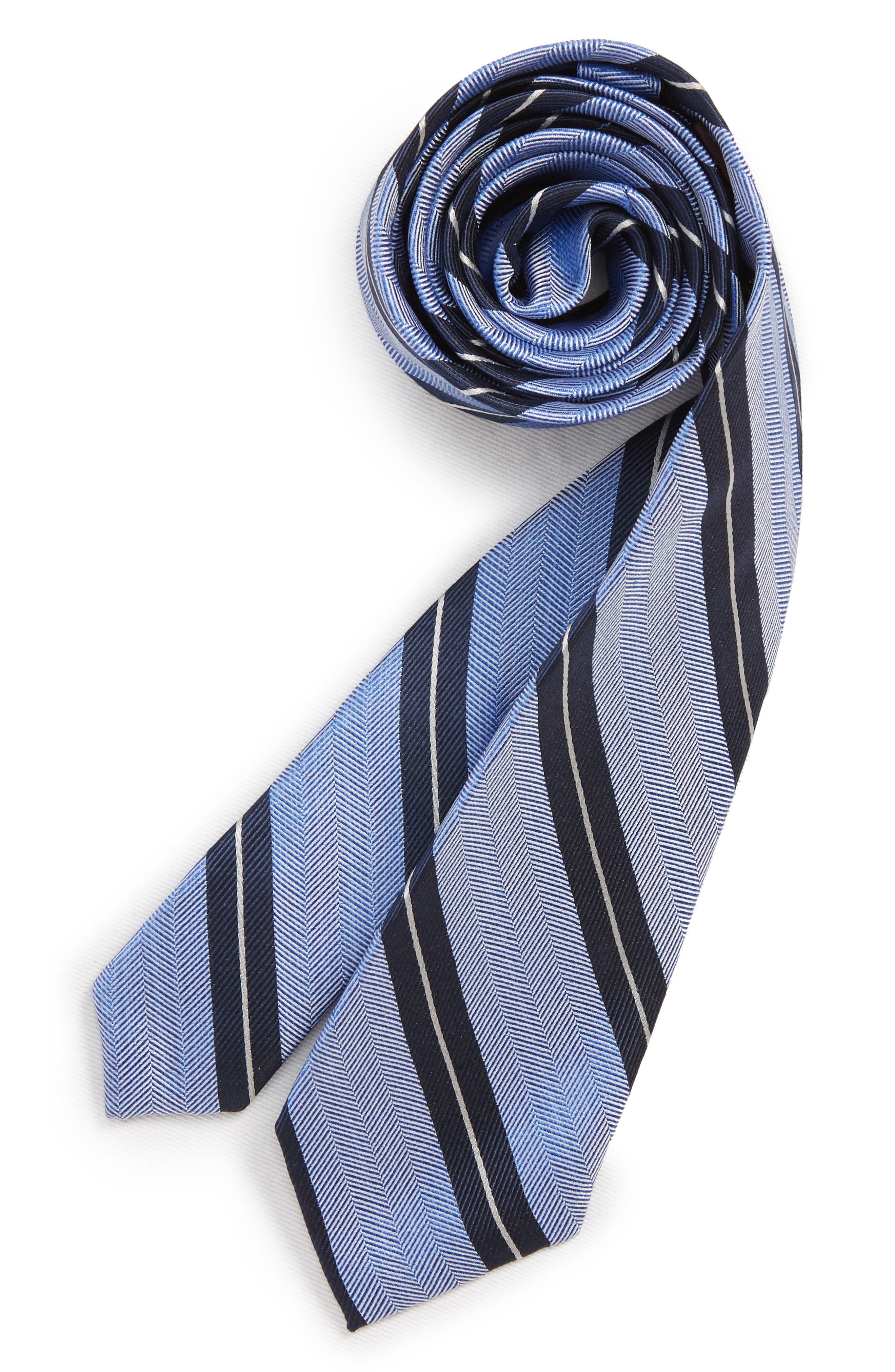 Stripe Silk Tie,                         Main,                         color, 467