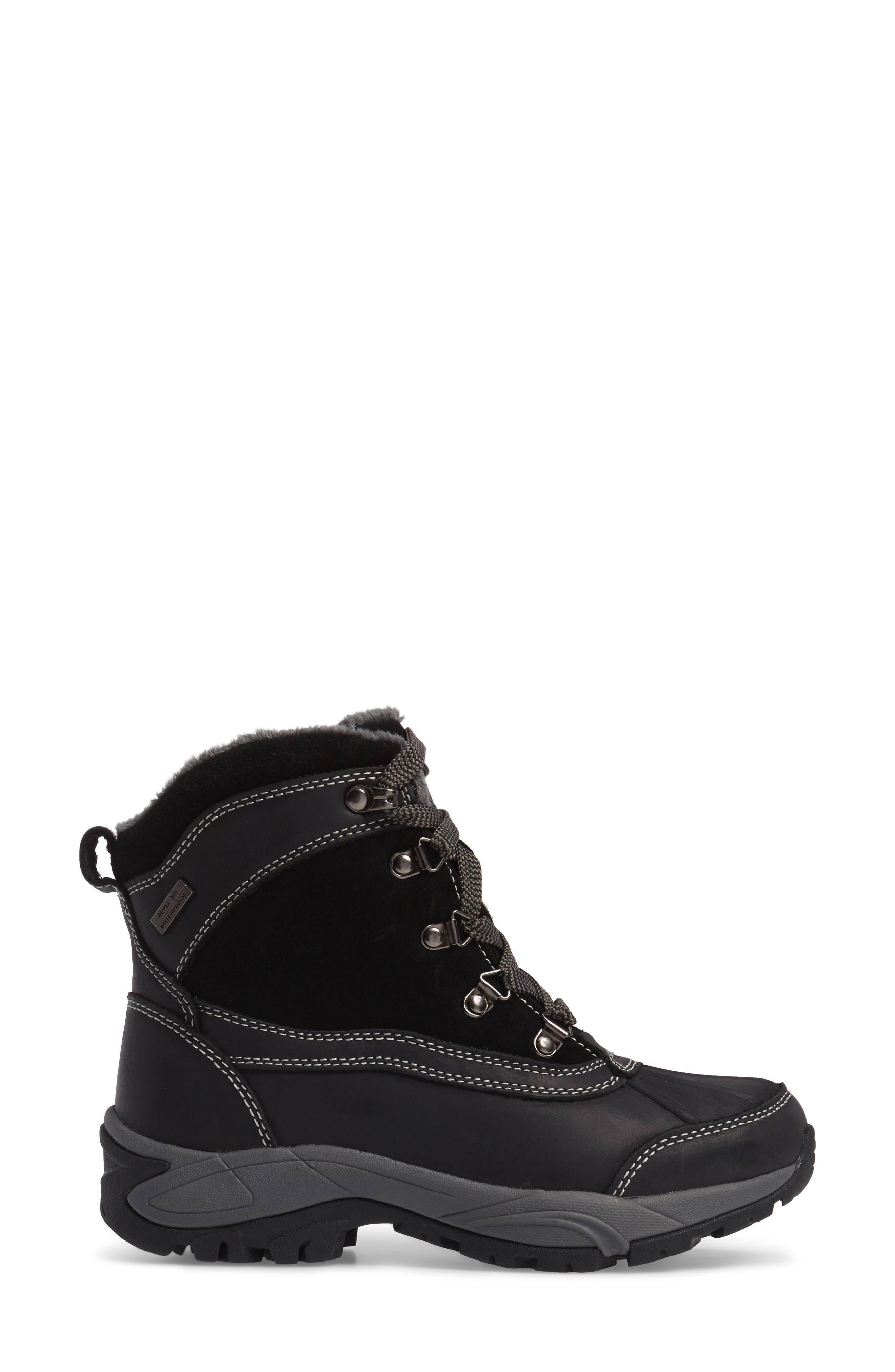 'Renee' Waterproof Insulated Winter Boot,                             Alternate thumbnail 3, color,                             001