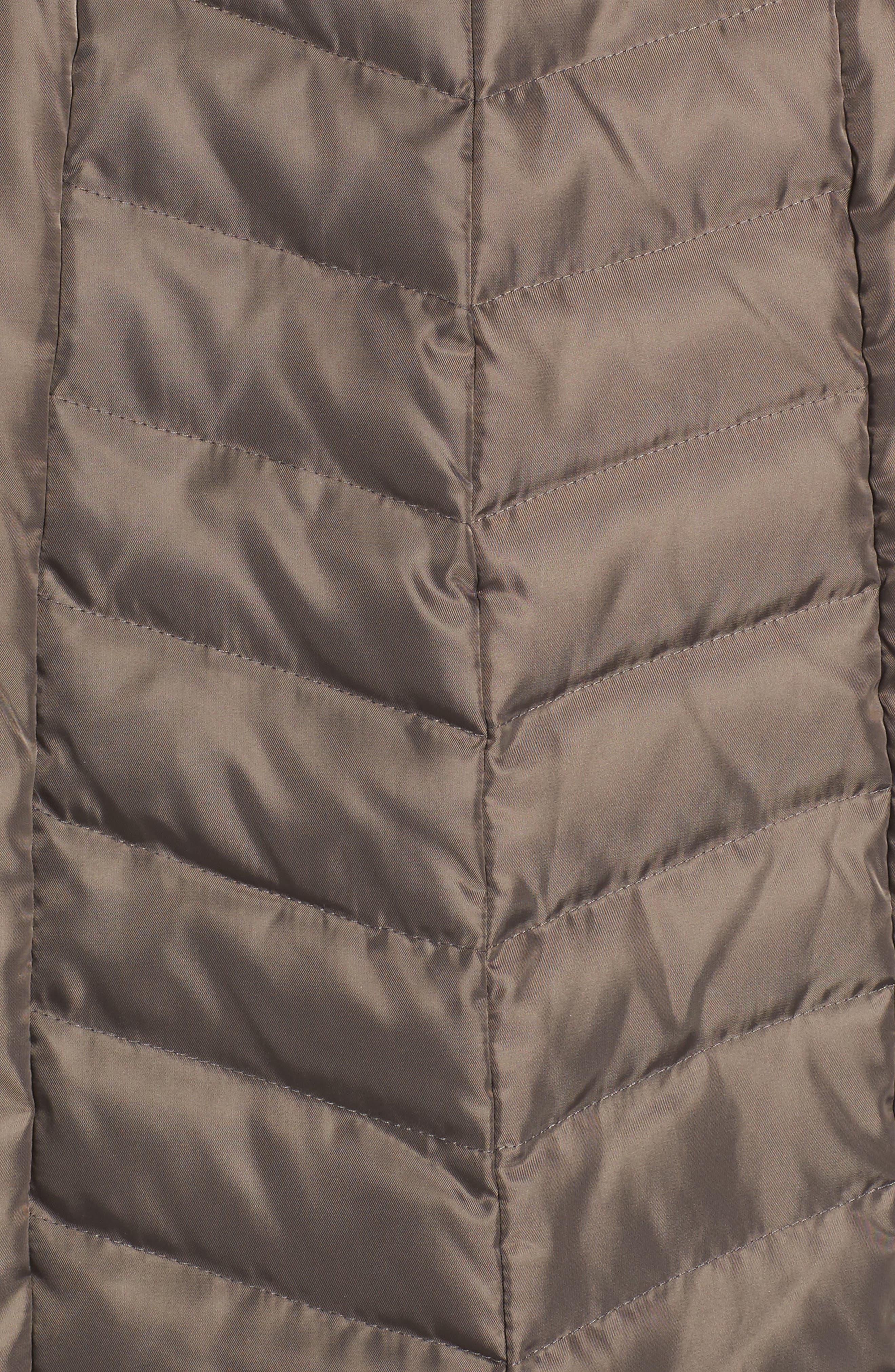 Belted Coat with Detachable Faux Fur,                             Alternate thumbnail 12, color,