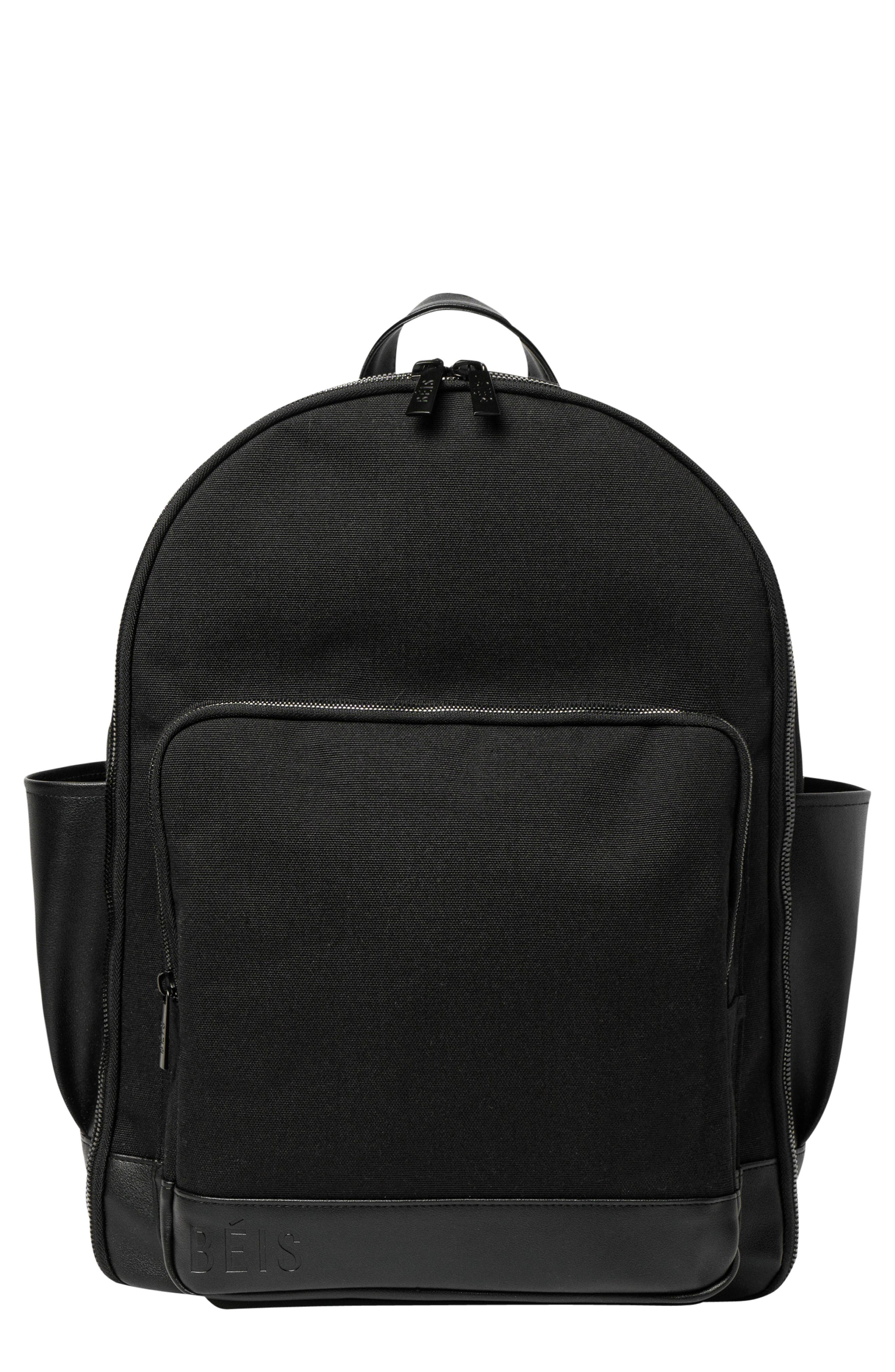 Travel Multi Function Travel Backpack,                             Main thumbnail 1, color,                             BLACK