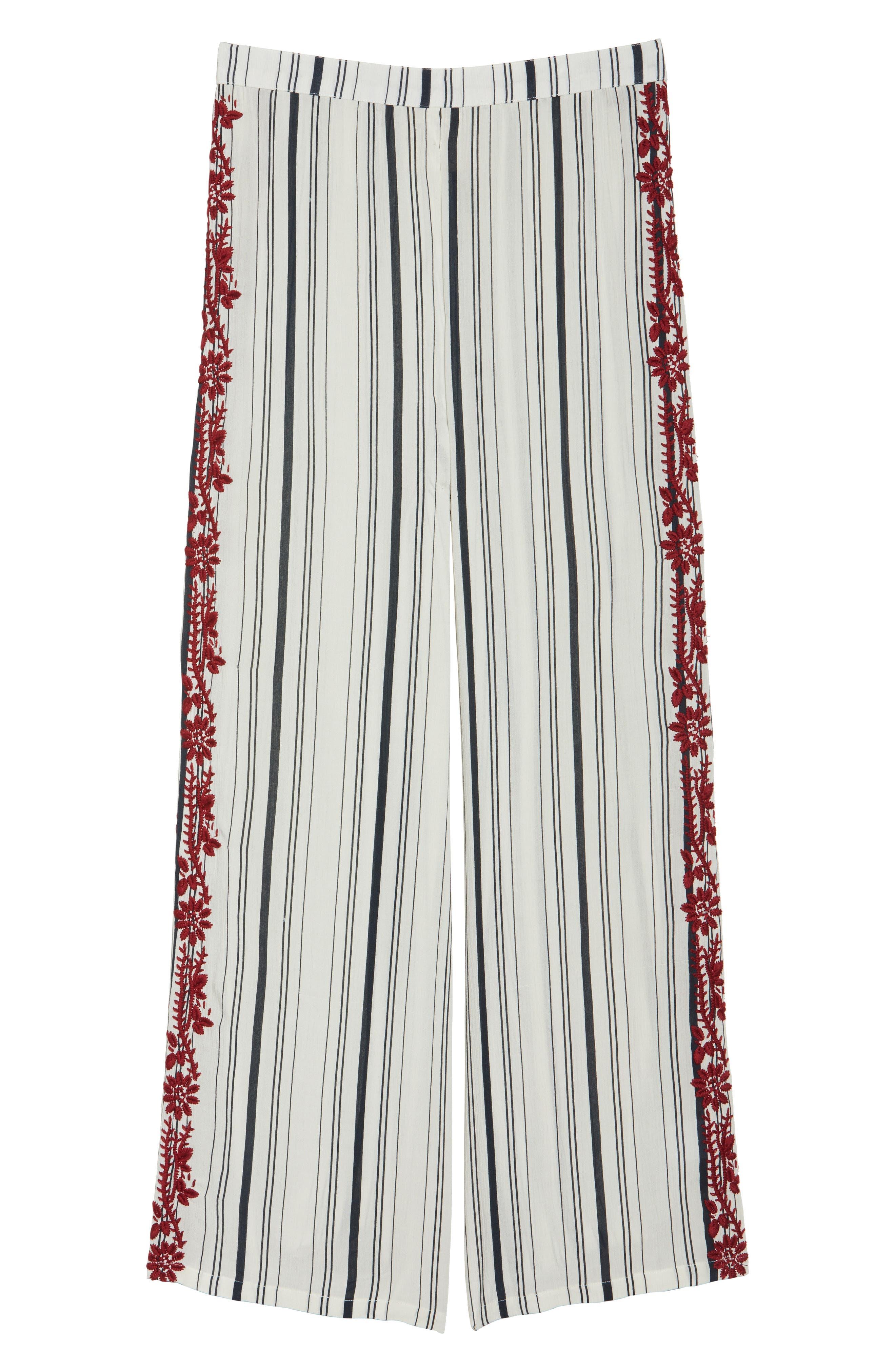 Arielle Stripe Cover-Up Pants,                             Alternate thumbnail 6, color,                             900