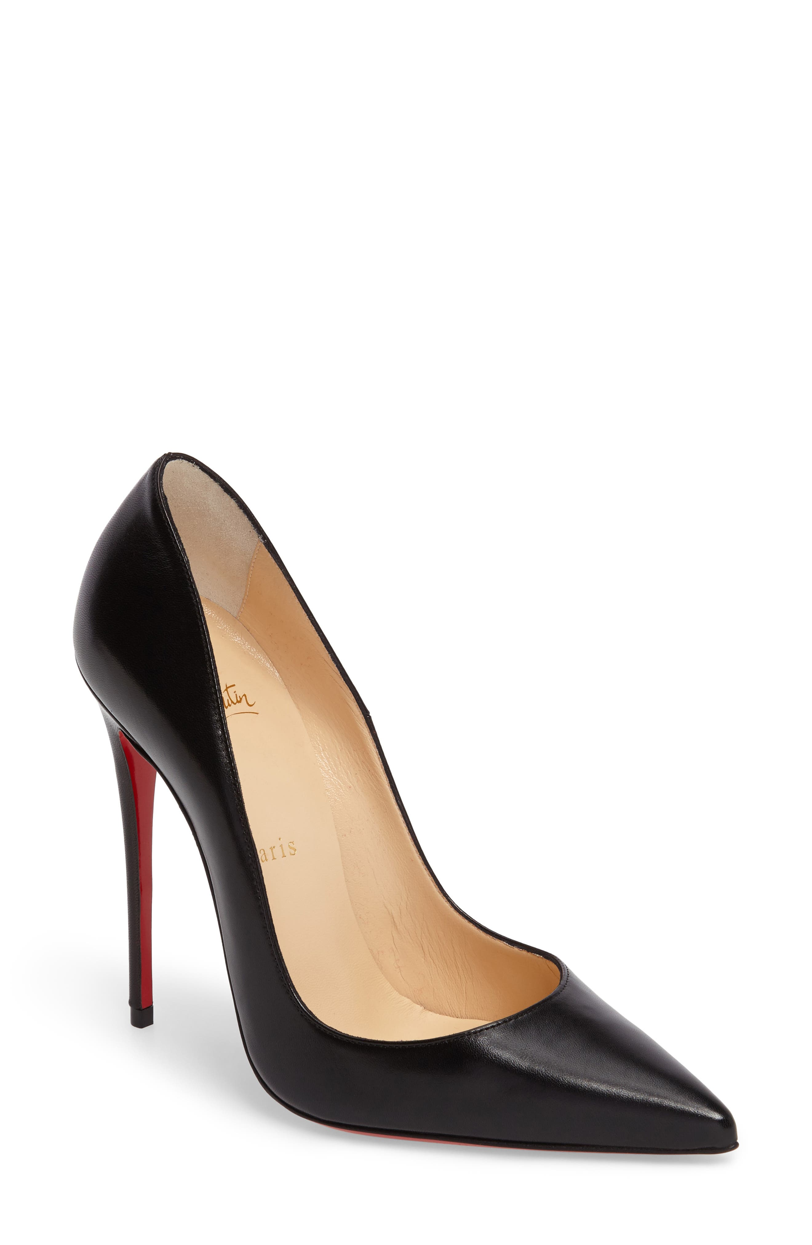 CHRISTIAN LOUBOUTIN So Kate Pointy Toe Pump, Main, color, 001