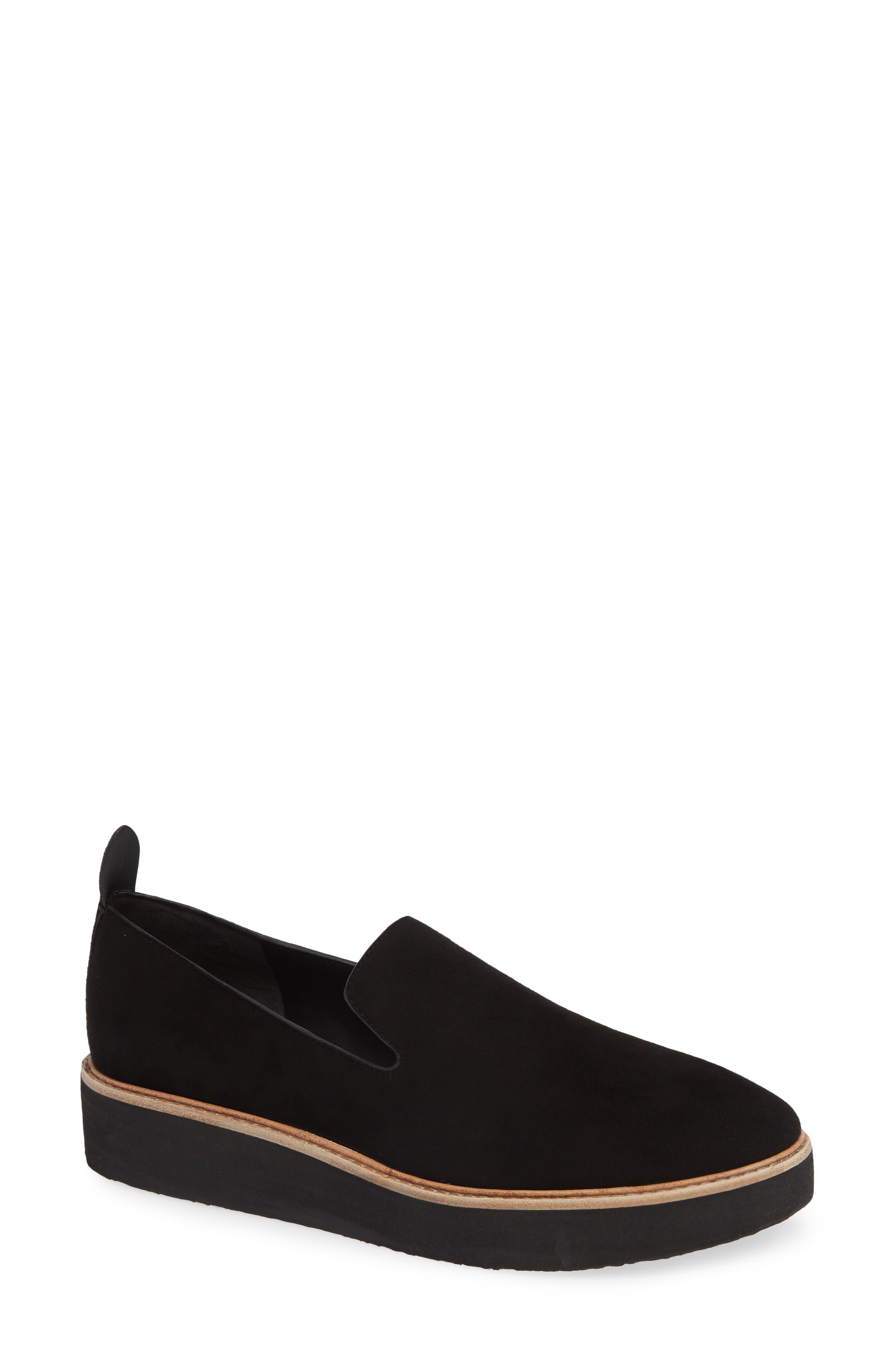 Sanders Slip-On Sneaker,                         Main,                         color, BLACK/ BLACK LEATHER
