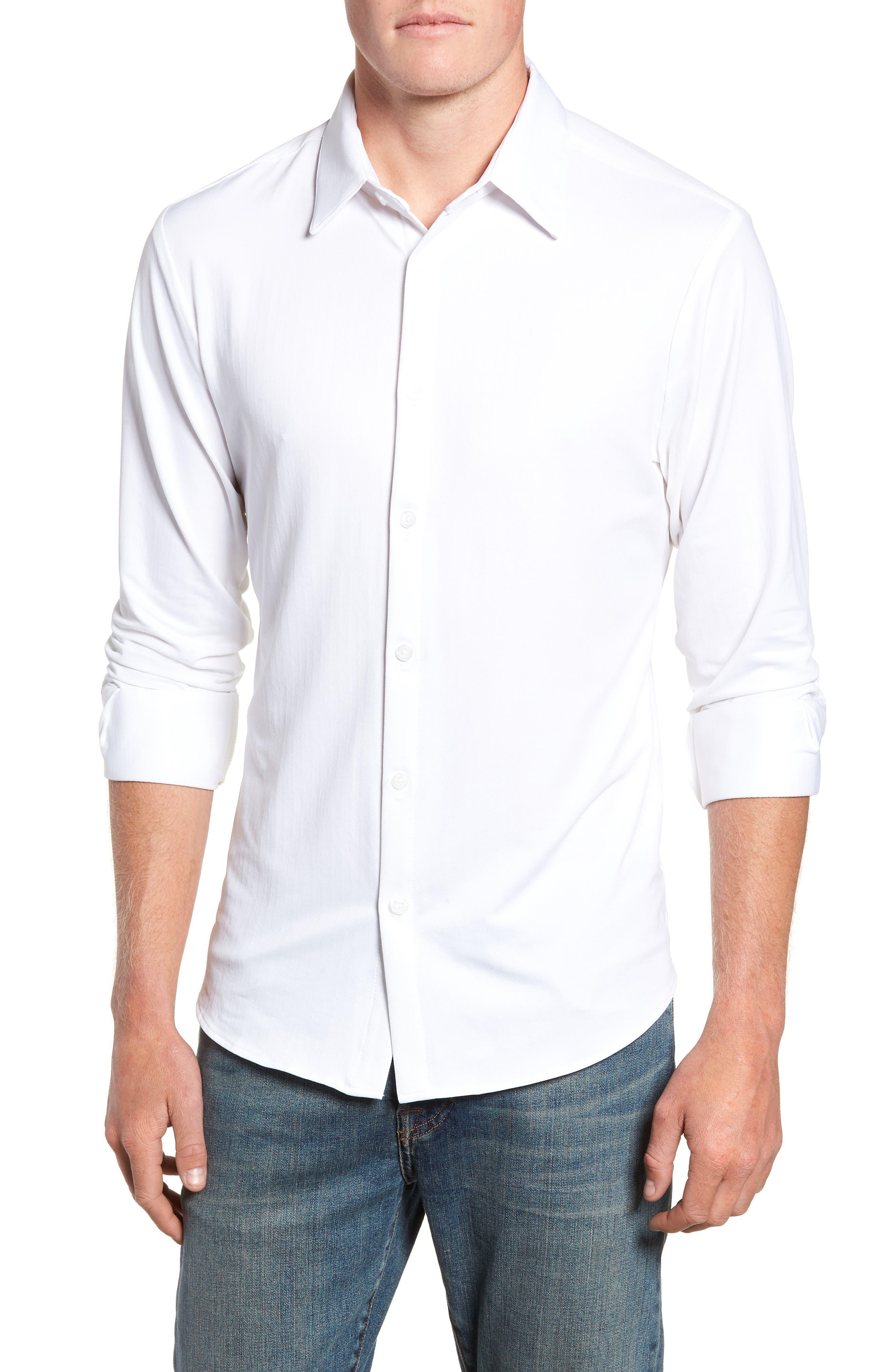 MIZZEN+MAIN Parker Regular Fit Sport Shirt, Main, color, 100