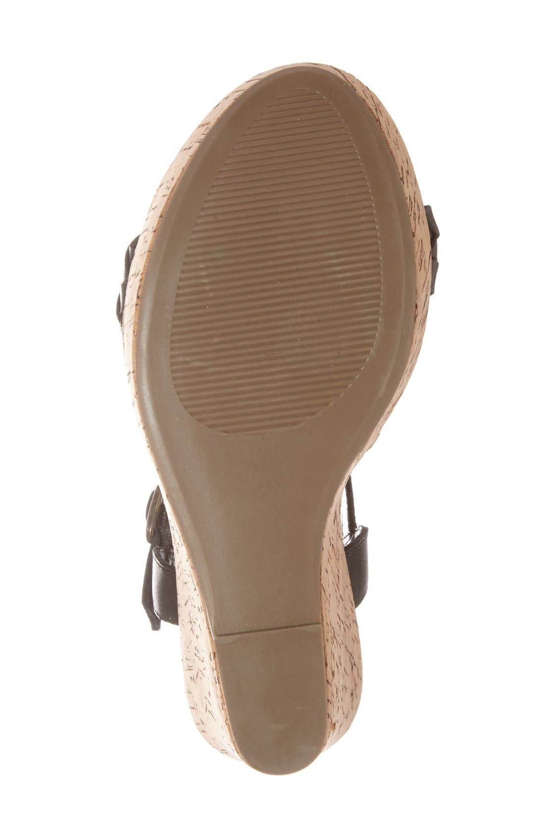 'Emmey' Platform Wedge Sandal,                             Alternate thumbnail 2, color,                             001