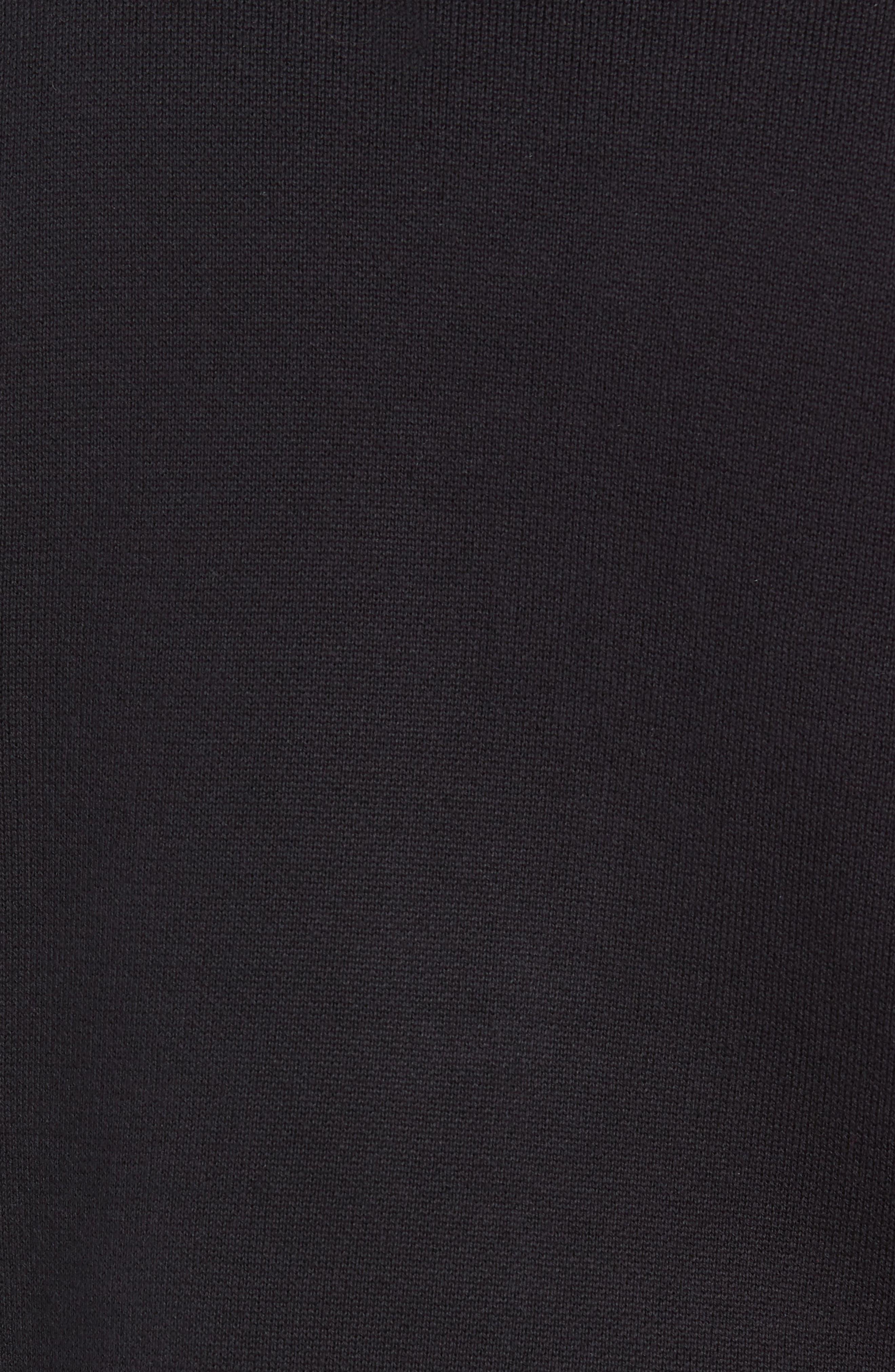 Check Yo Sleeve Crewneck Sweater,                             Alternate thumbnail 5, color,                             001