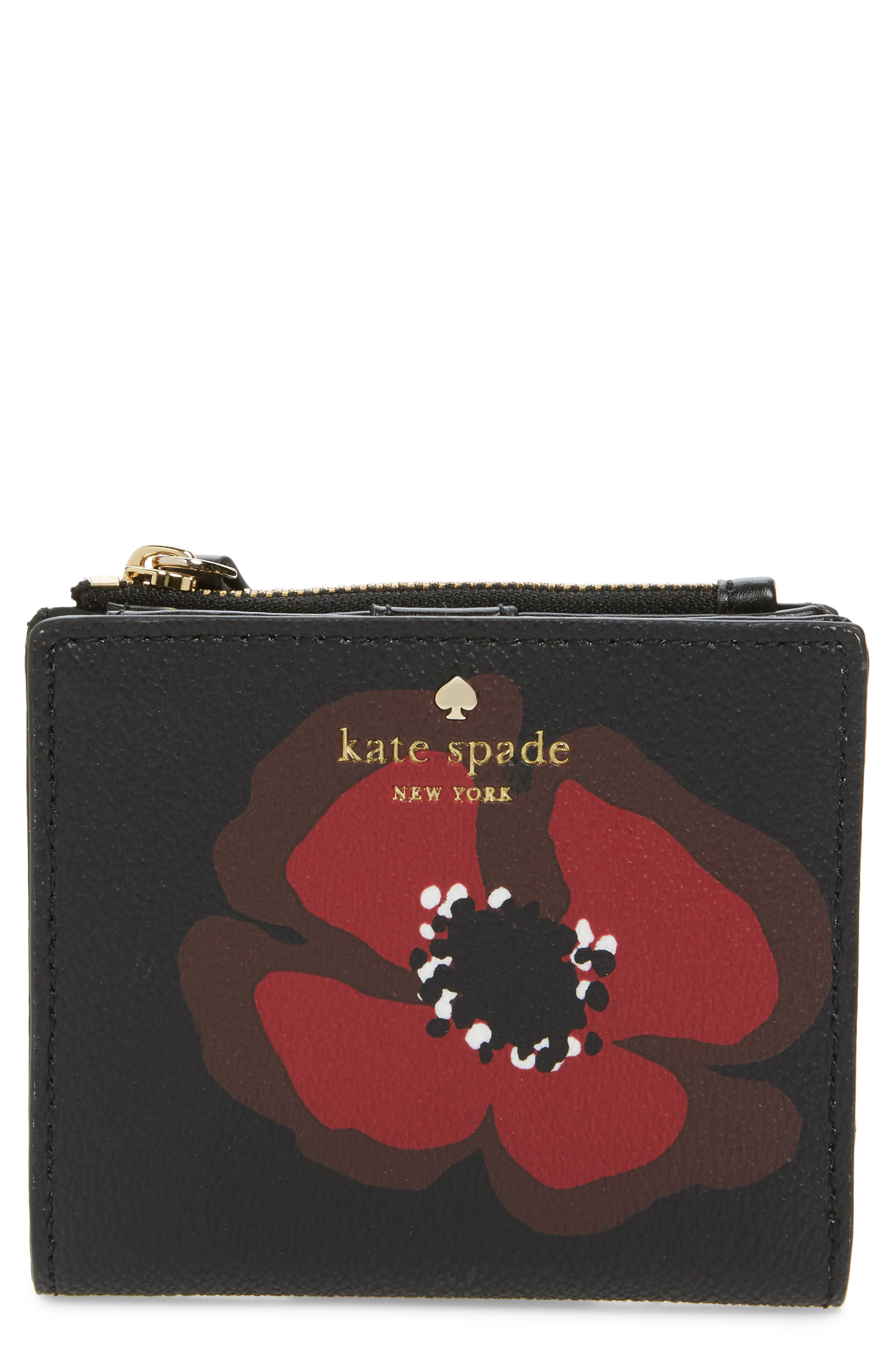 hyde lane poppy adalyn leather wallet,                             Main thumbnail 1, color,                             001