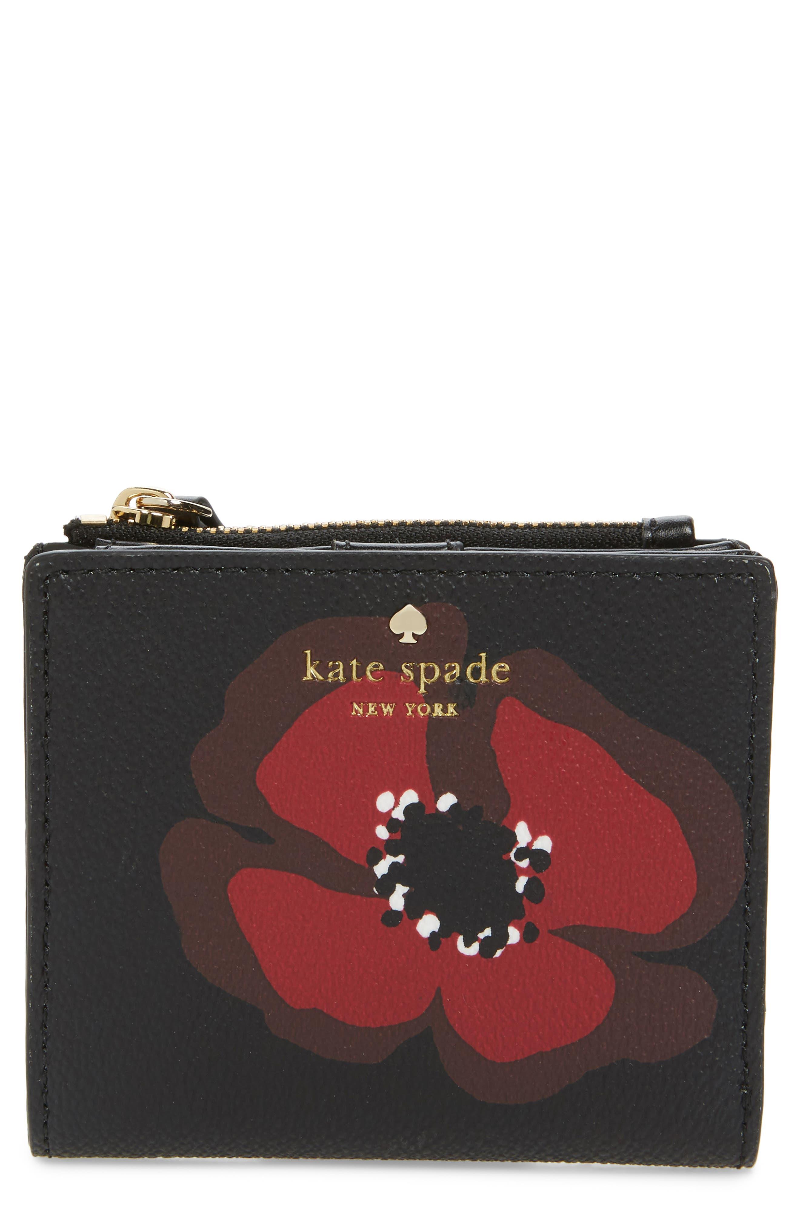 hyde lane poppy adalyn leather wallet,                         Main,                         color, 001