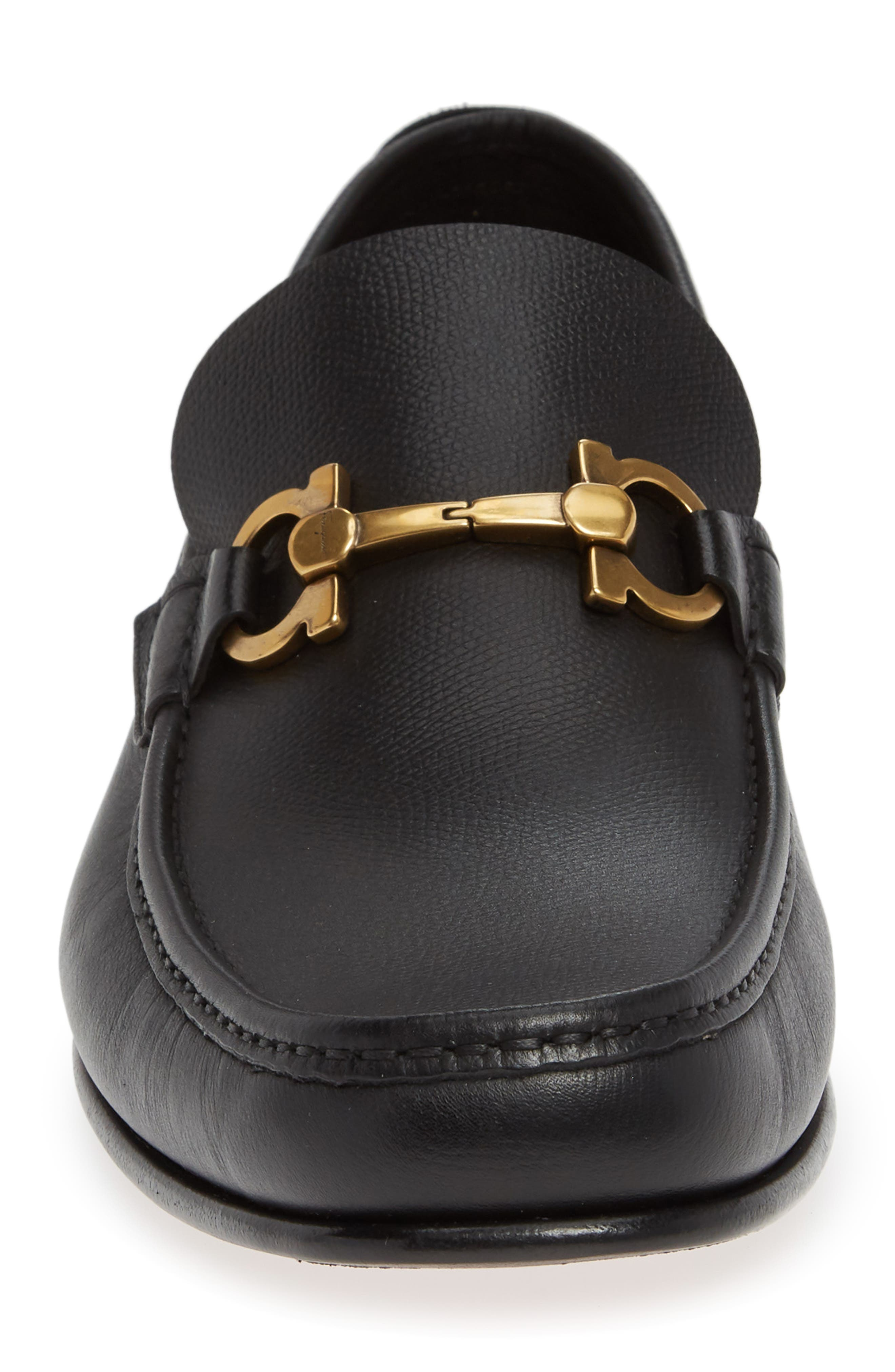 Fiordi Bit Loafer,                             Alternate thumbnail 4, color,                             NERO LEATHER
