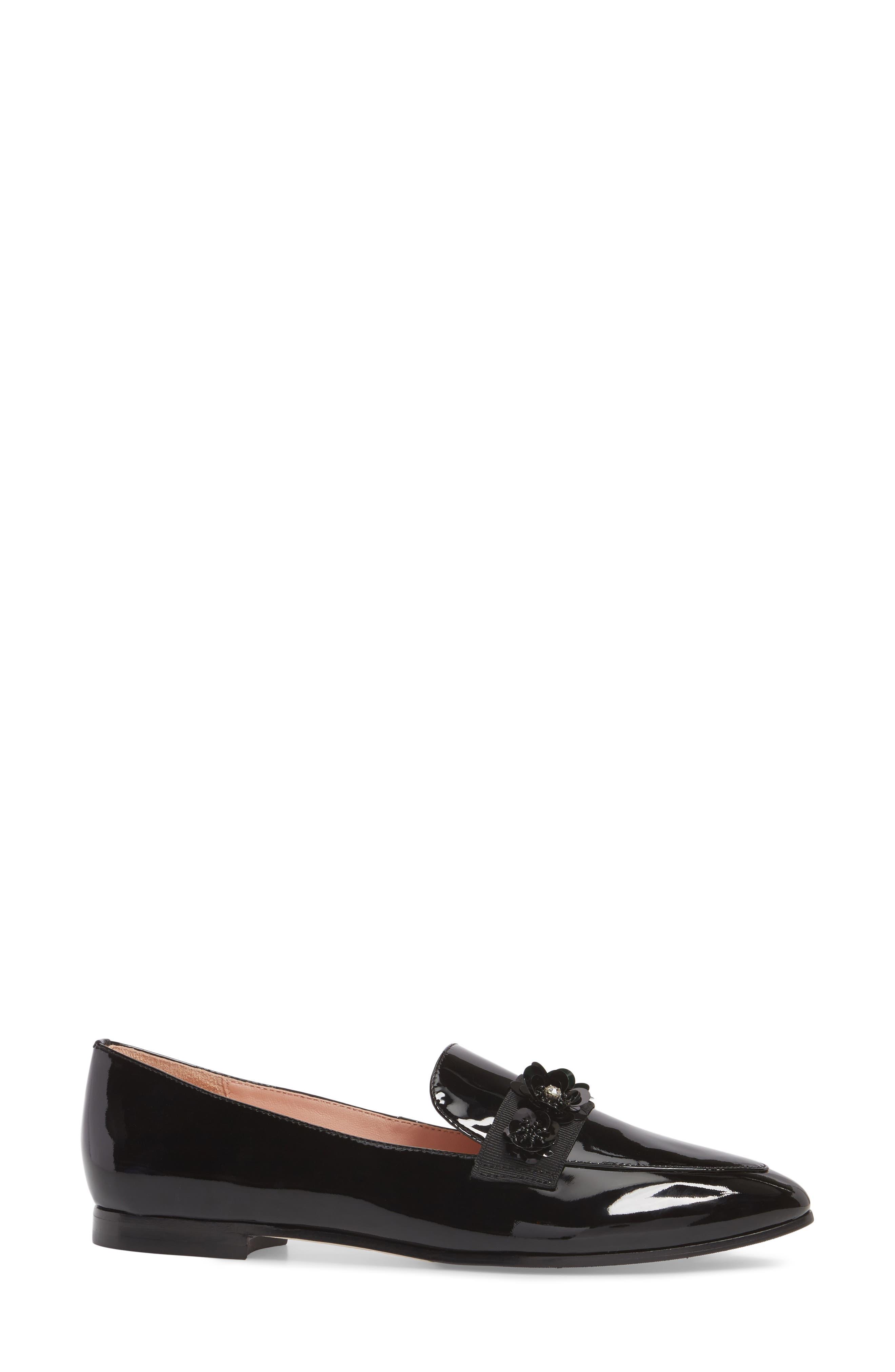 cleo embellished loafer,                             Alternate thumbnail 3, color,                             001