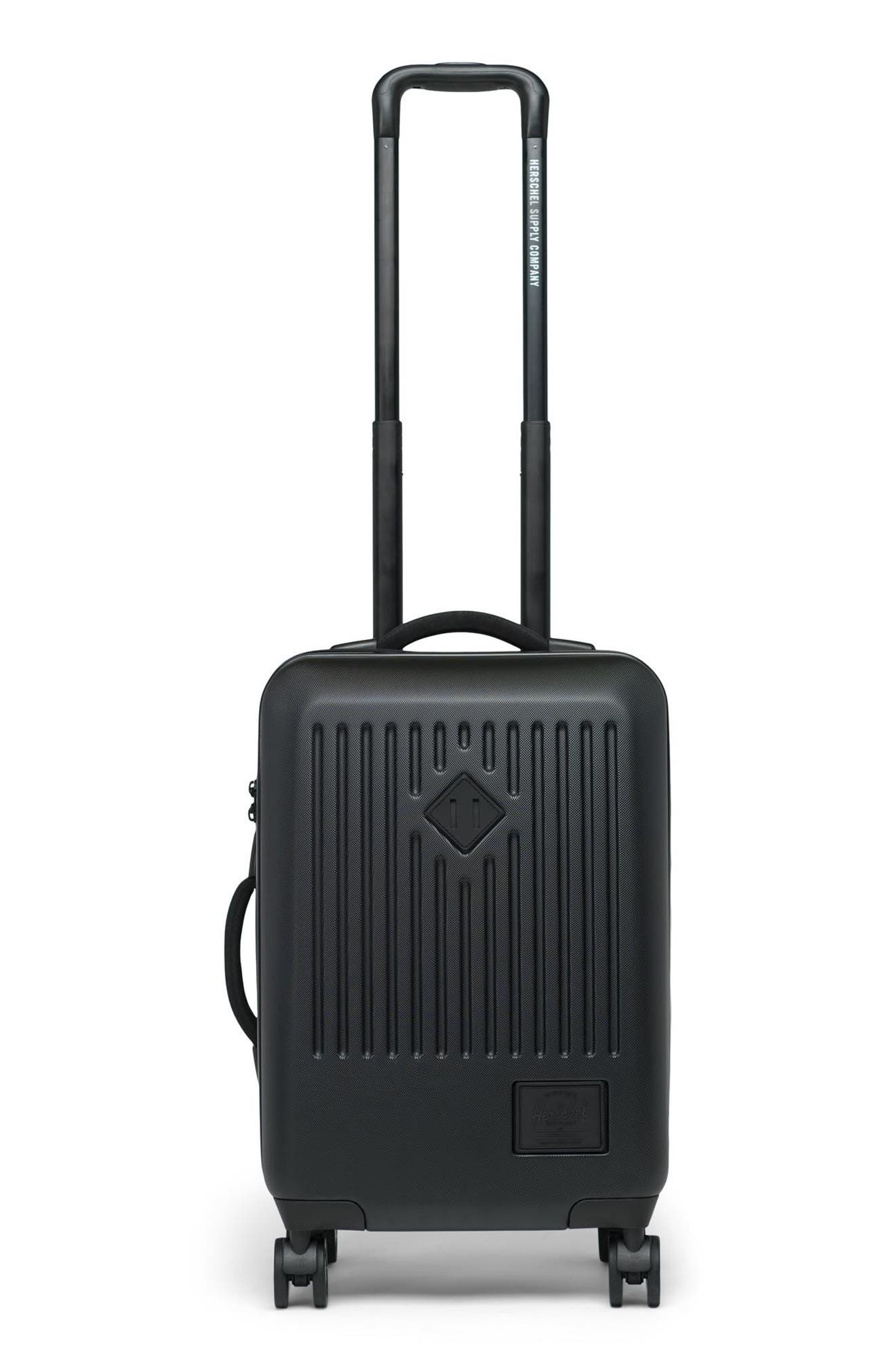 Trade 23-Inch Rolling Suitcase,                             Main thumbnail 1, color,                             BLACK