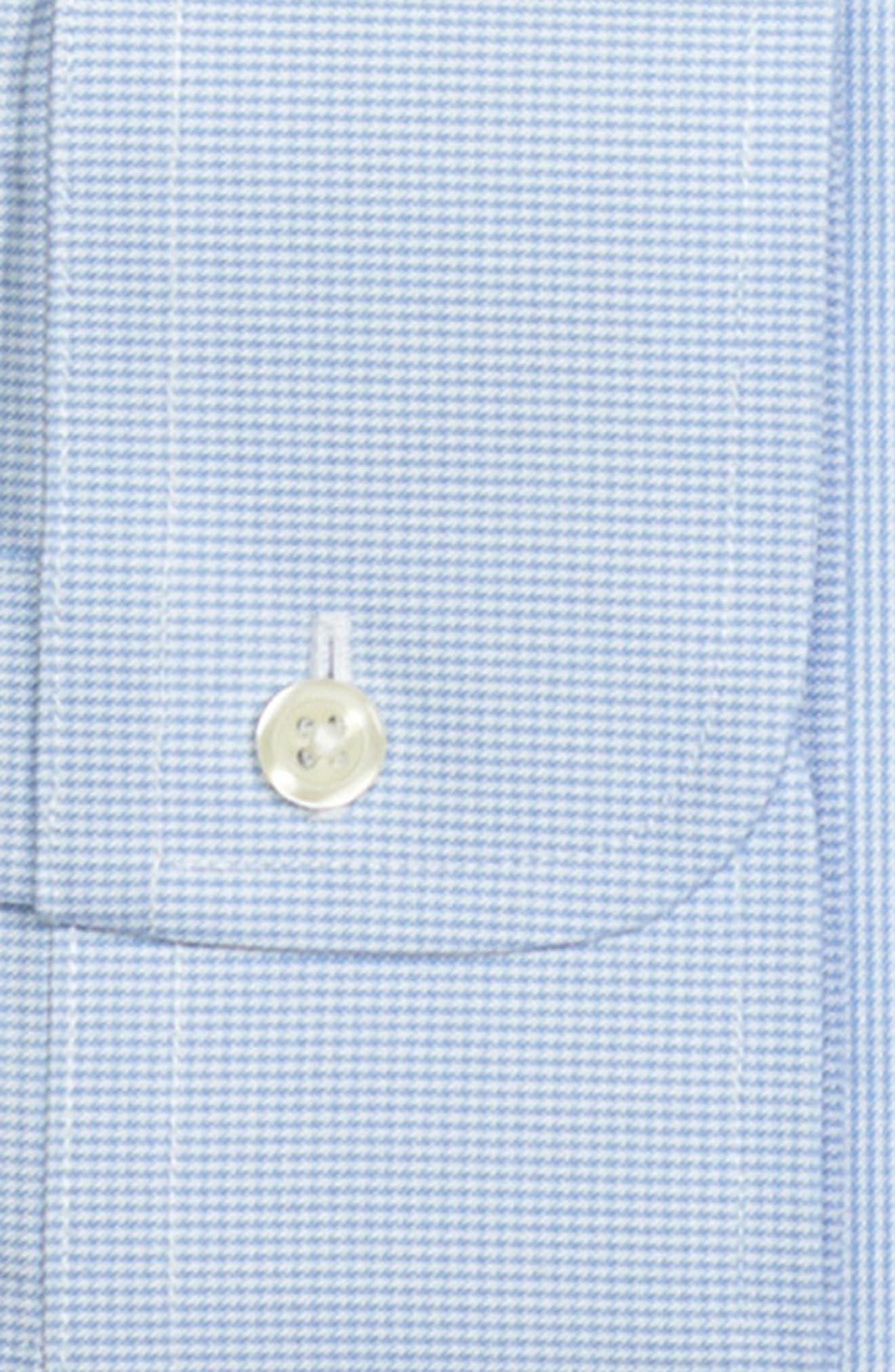Regular Fit Houndstooth Dress Shirt,                             Alternate thumbnail 2, color,                             LIGHT/ PASTEL BLUE
