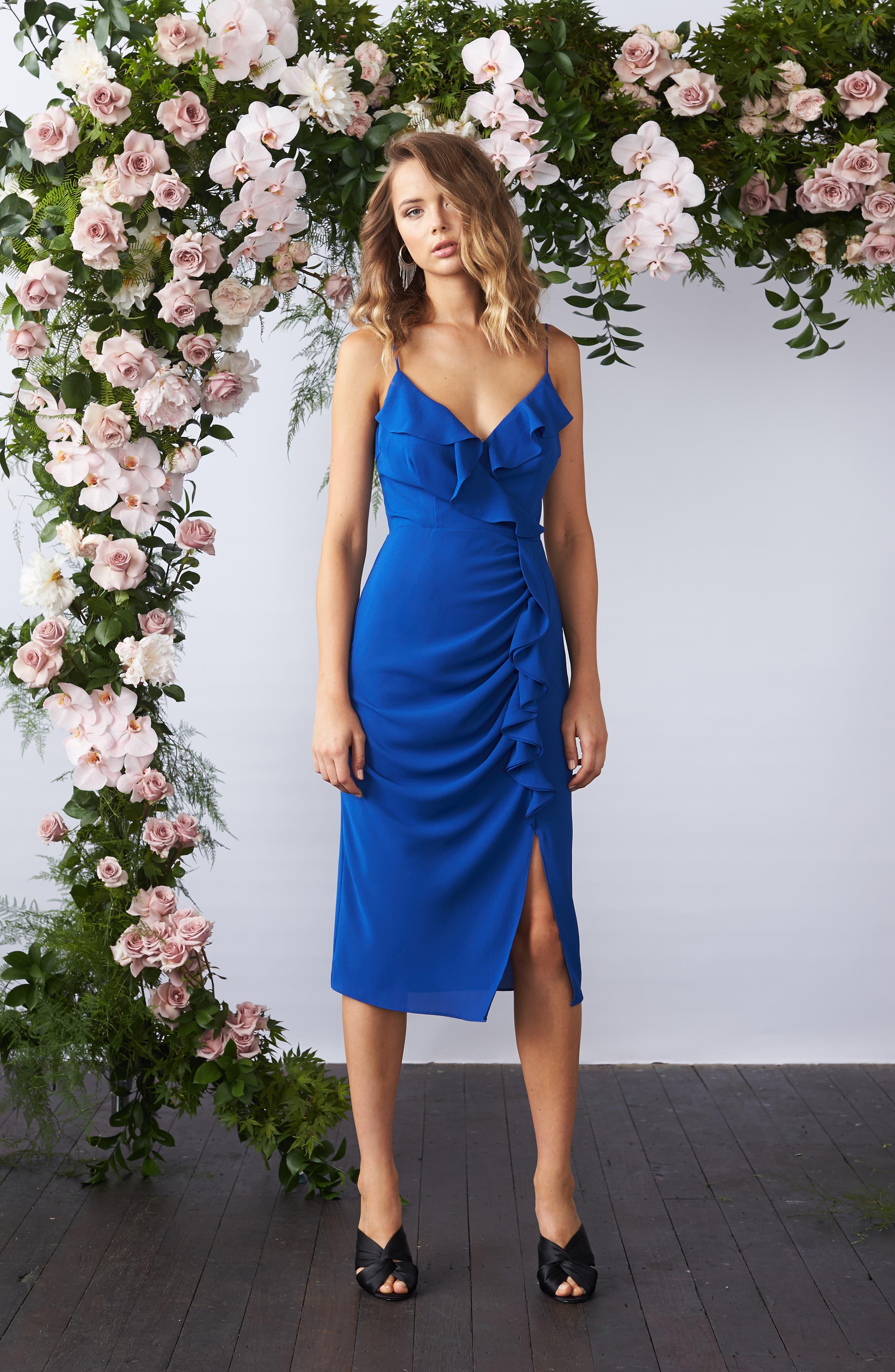 Camilla Frill Sheath Dress,                             Alternate thumbnail 8, color,                             460