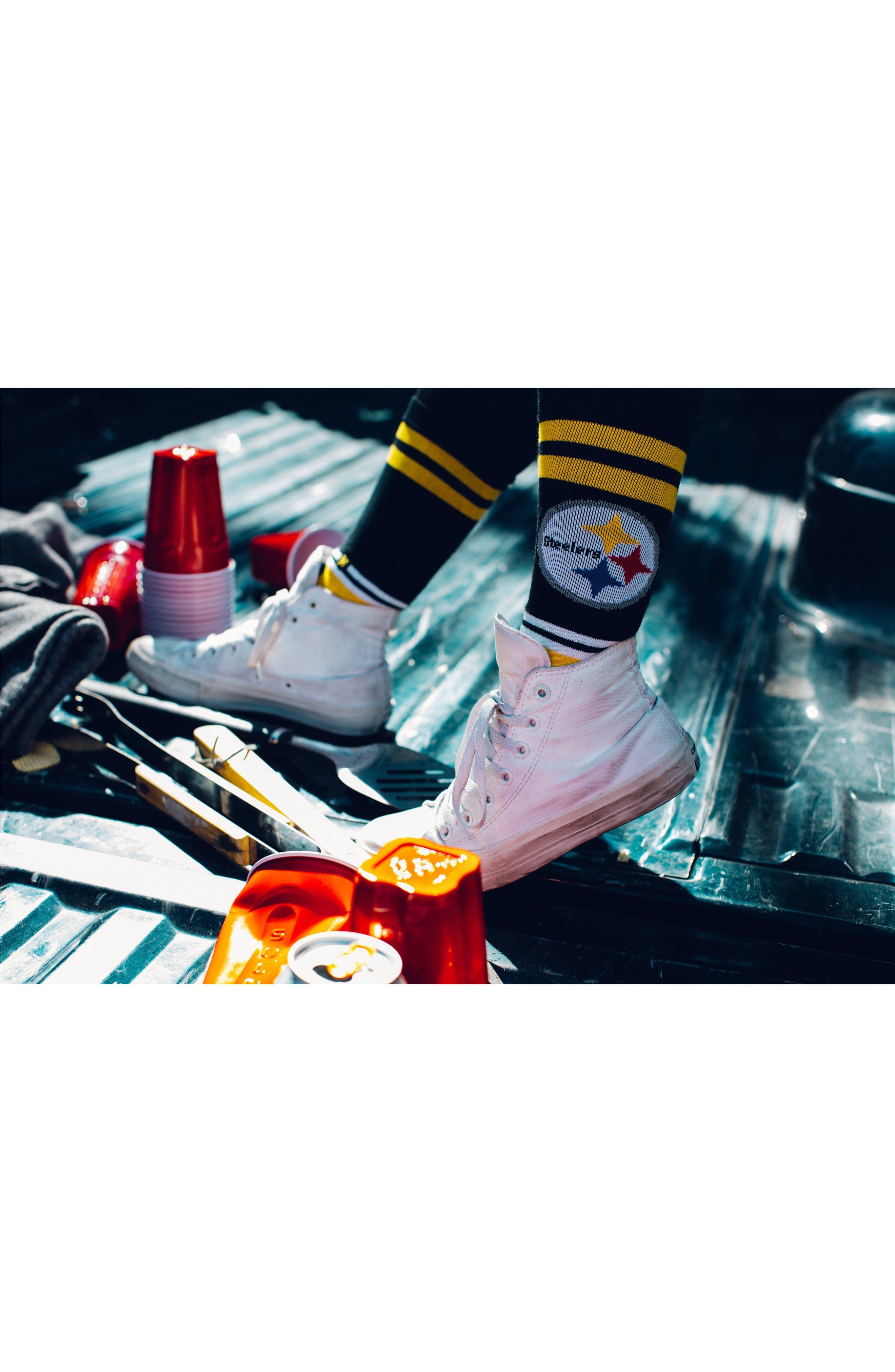Pittsburgh Steelers - Fade Socks,                             Alternate thumbnail 6, color,                             700