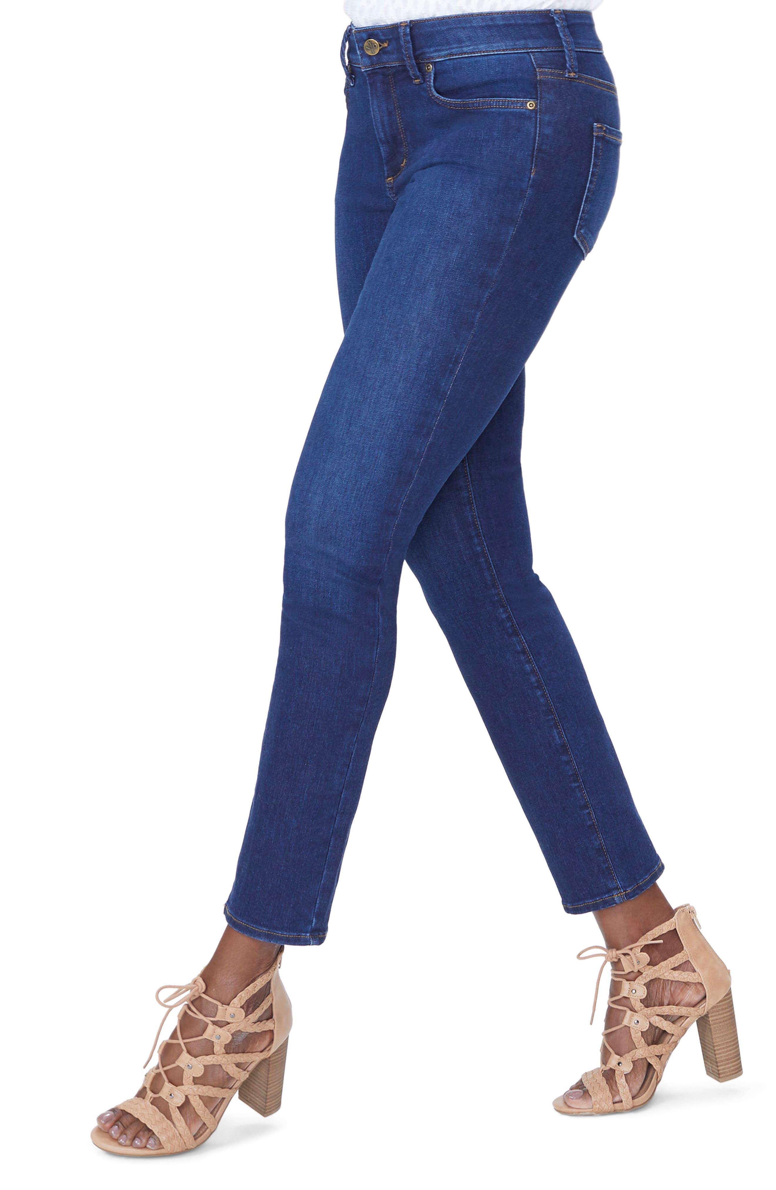 Sheri High Waist Slim Jeans,                             Alternate thumbnail 3, color,                             COOPER