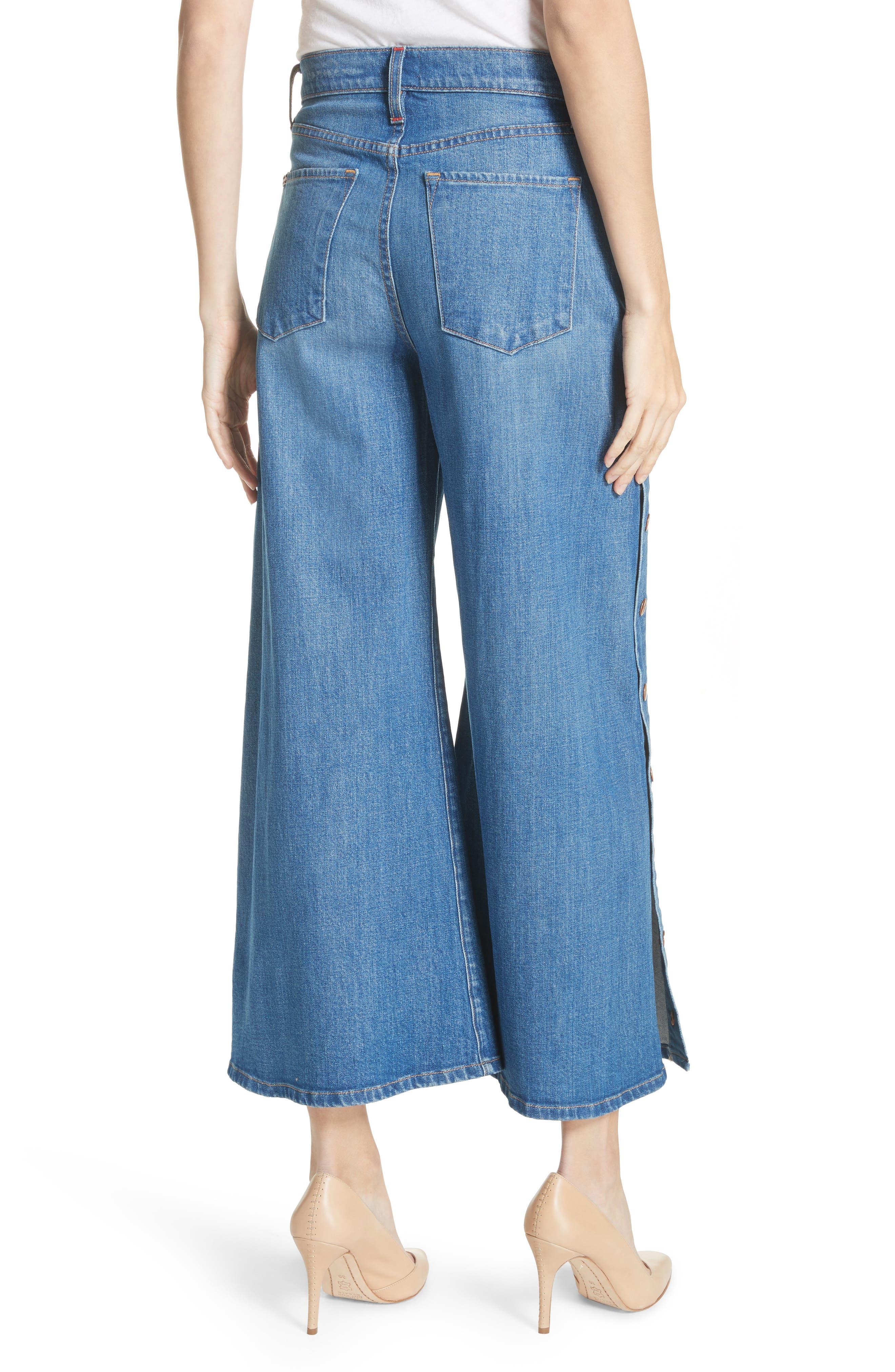 AO.LA Gorgeous Snap Side Crop Flare Jeans,                             Alternate thumbnail 2, color,