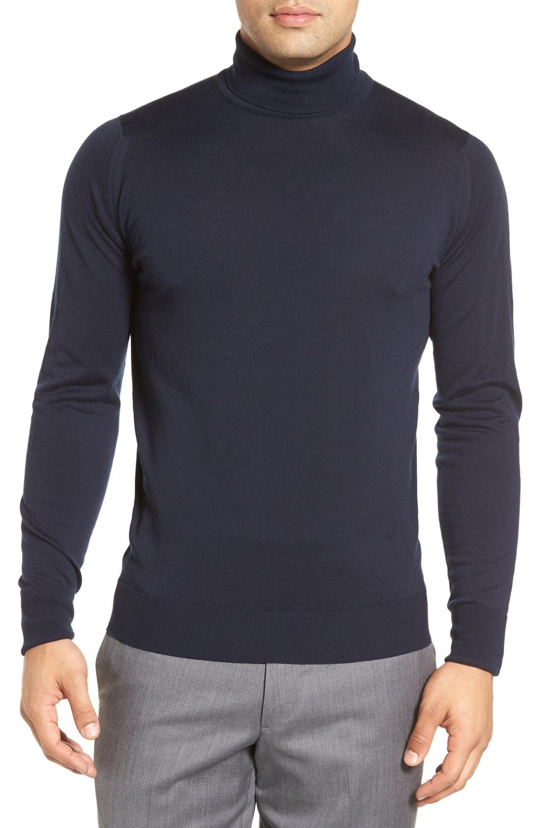 'Richards' Easy Fit Turtleneck Wool Sweater,                             Main thumbnail 7, color,