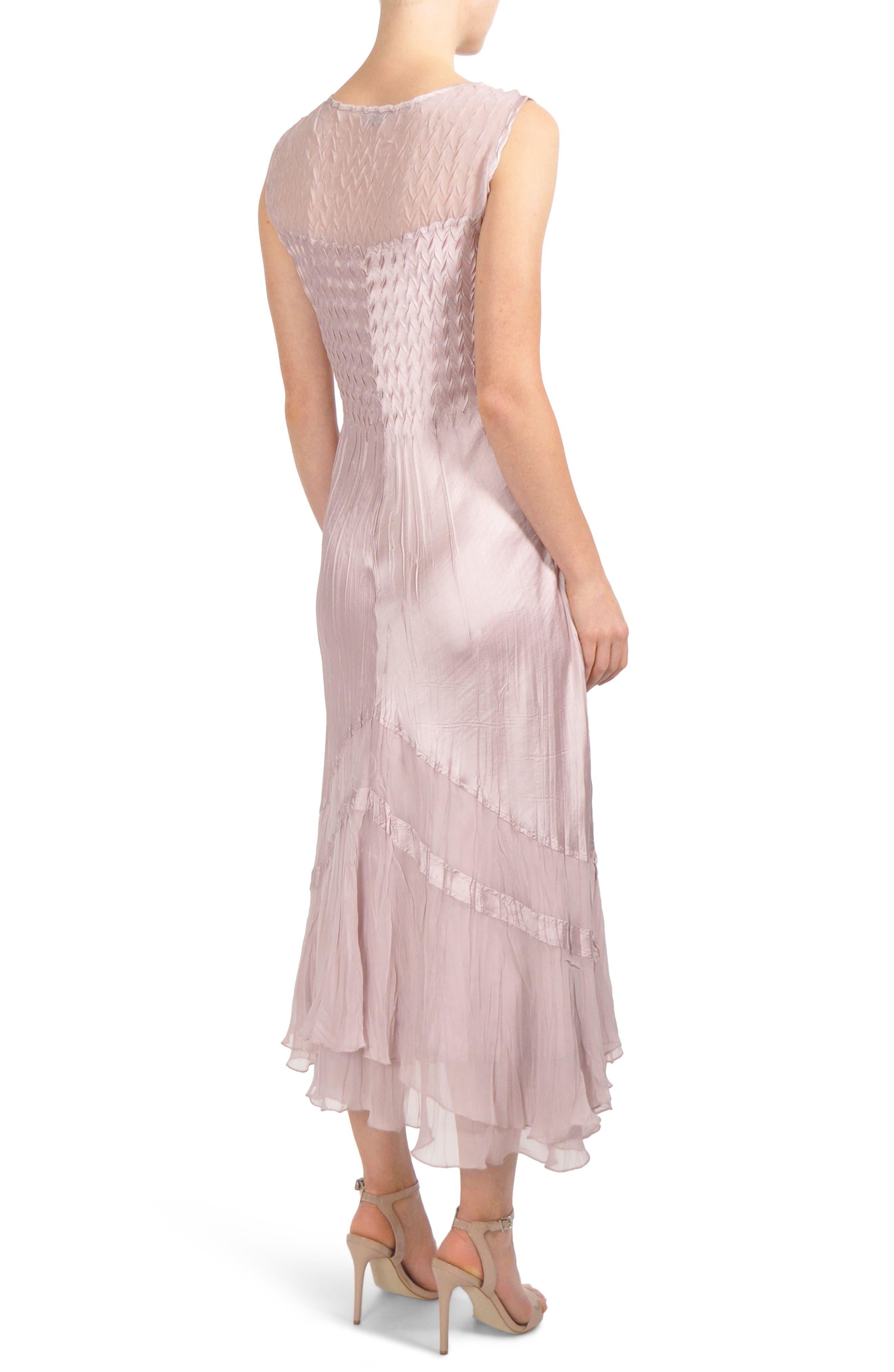 Embellished Tiered Hem Dress With Jacket,                             Alternate thumbnail 4, color,                             030