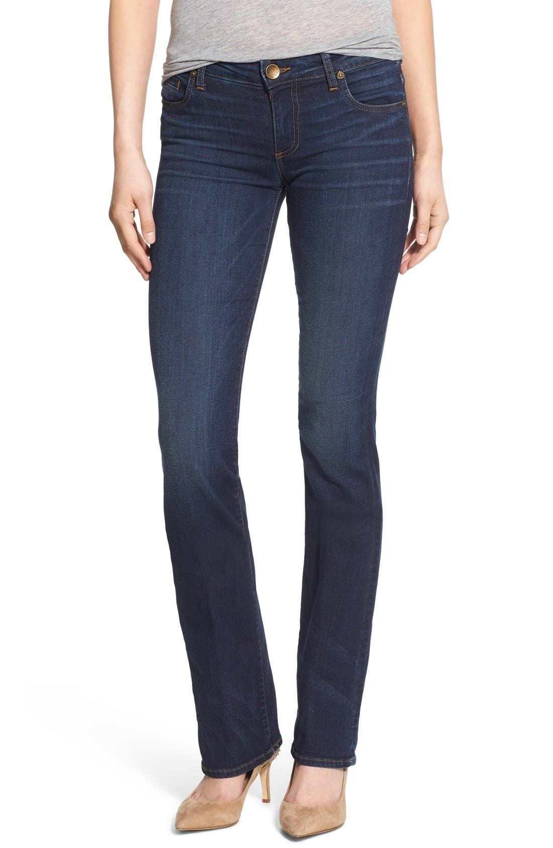'Natalie' Stretch Bootleg Jeans,                             Main thumbnail 1, color,                             401