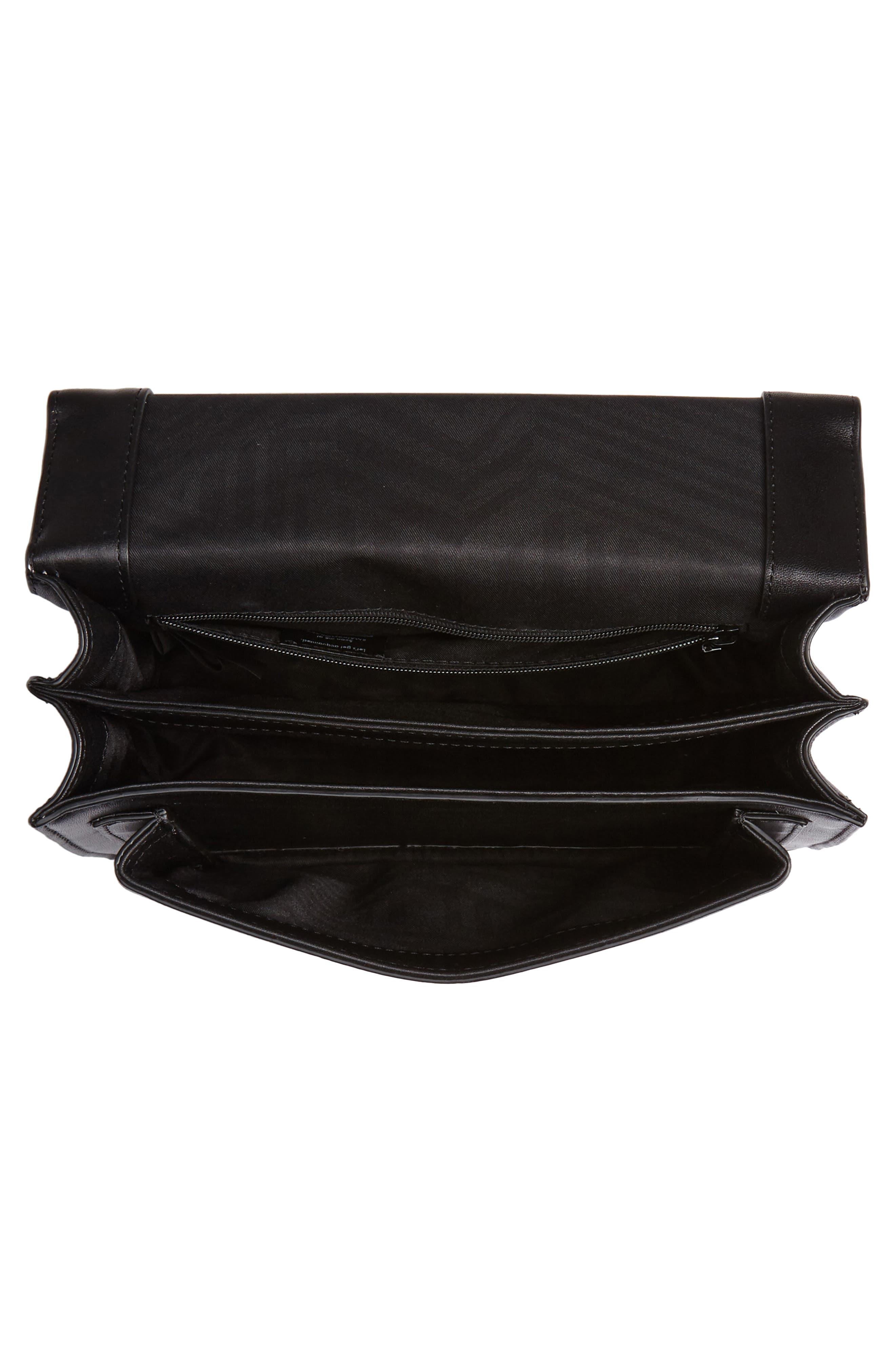 Medium Christy Leather Shoulder Bag,                             Alternate thumbnail 4, color,                             001
