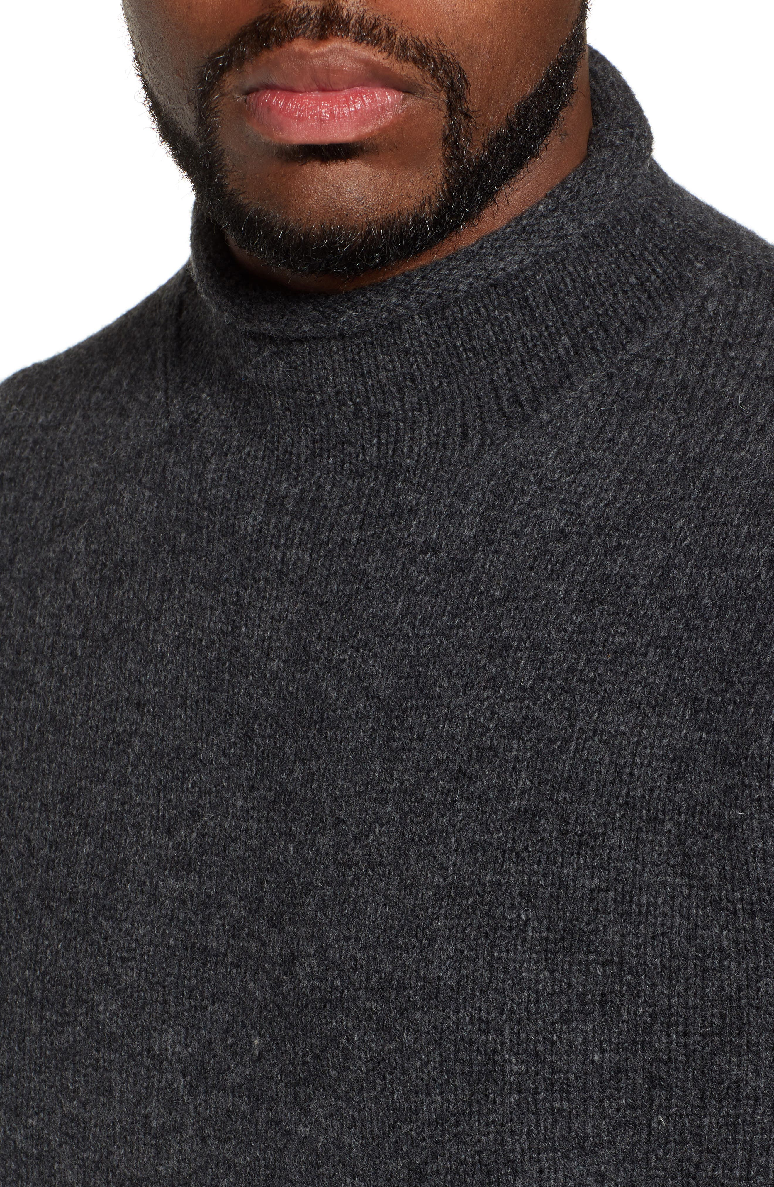 J.CREW,                             Relaxed Rollneck<sup>™</sup> Lambswool Sweater,                             Alternate thumbnail 4, color,                             020