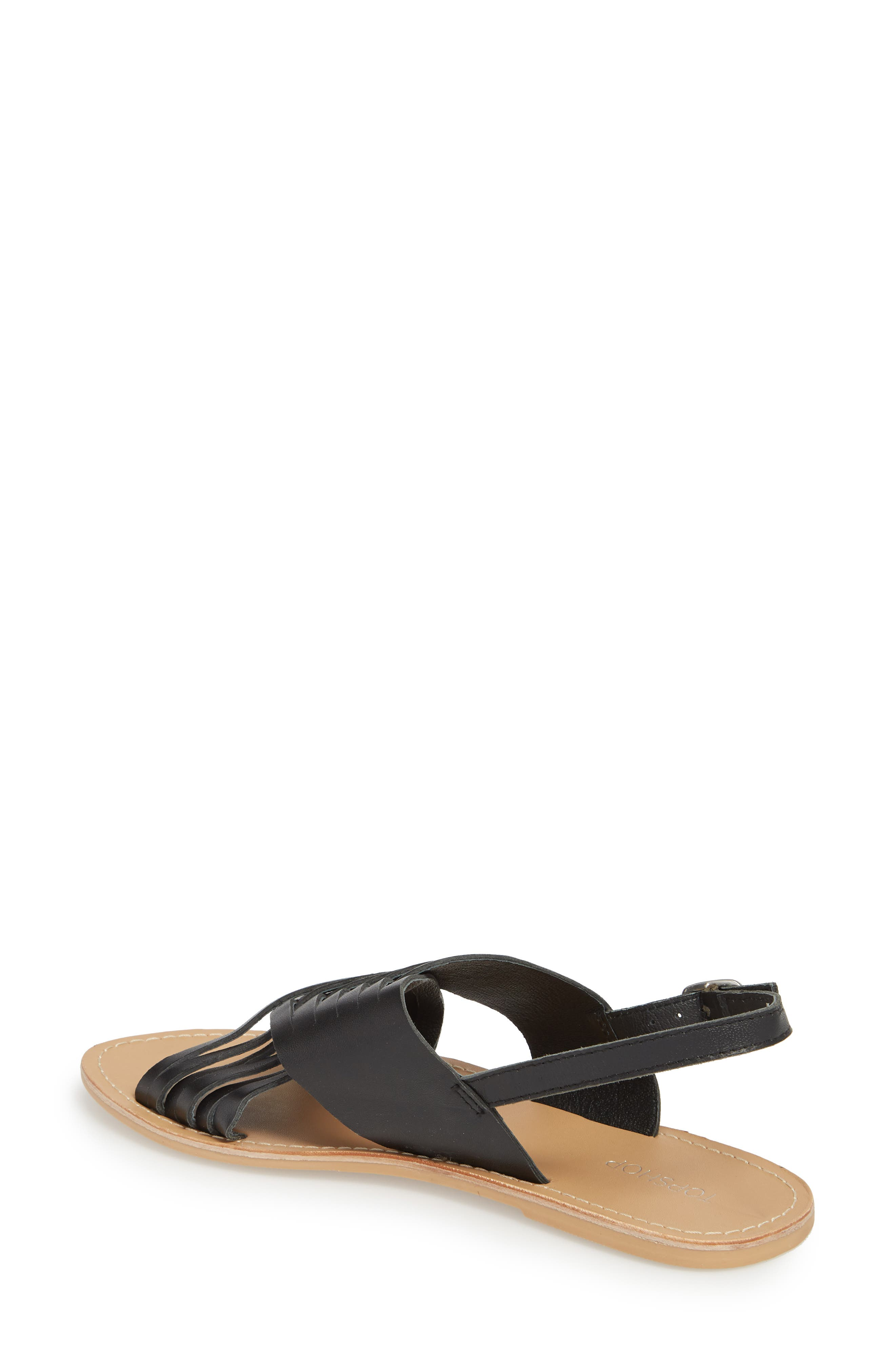 Hottie Cross Strap Flat Sandal,                             Alternate thumbnail 3, color,