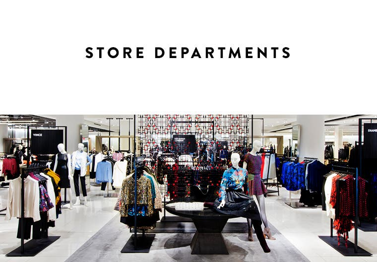 Store departments.