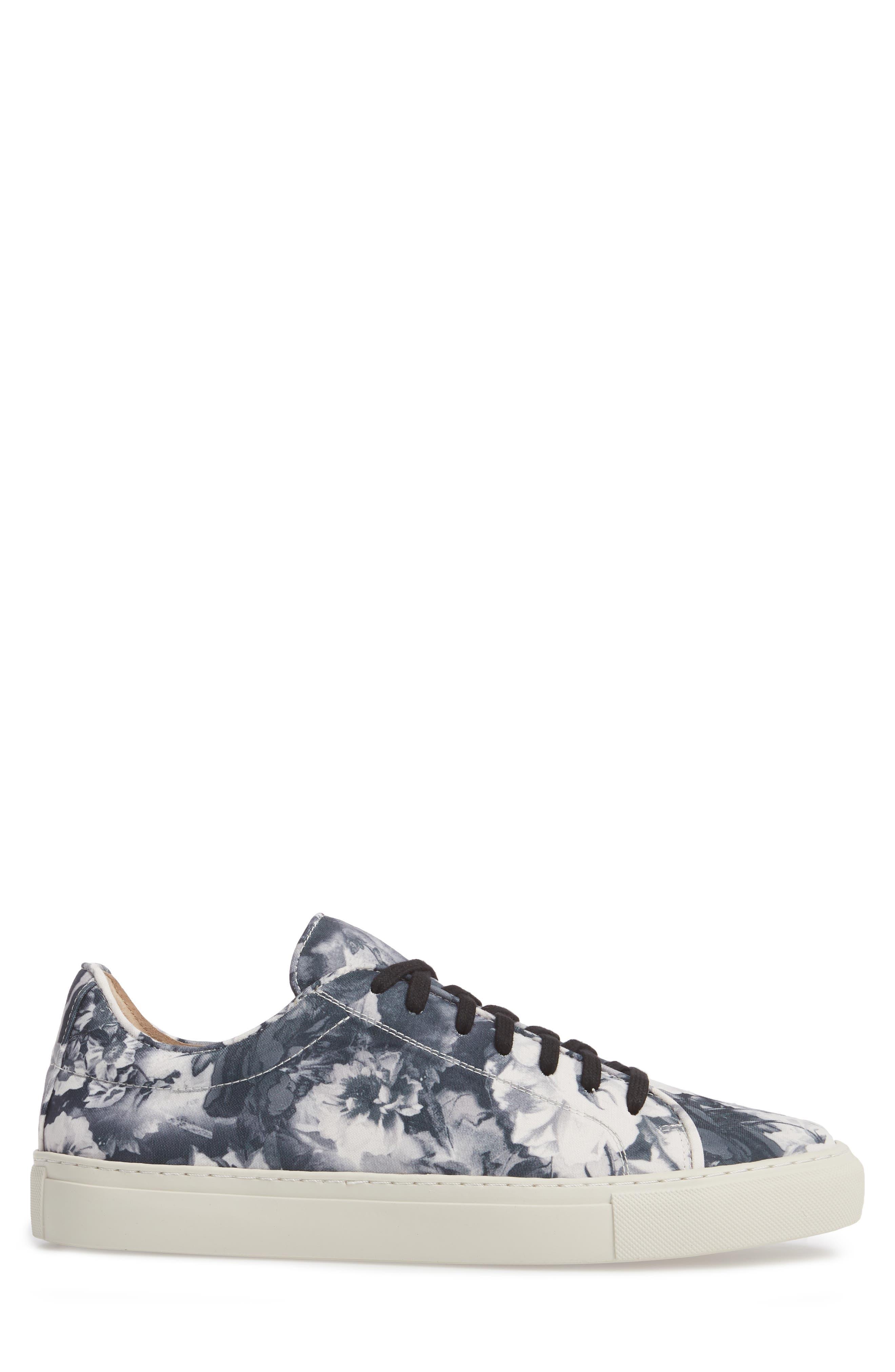 Mason Print Low Top Sneaker,                             Alternate thumbnail 3, color,                             005