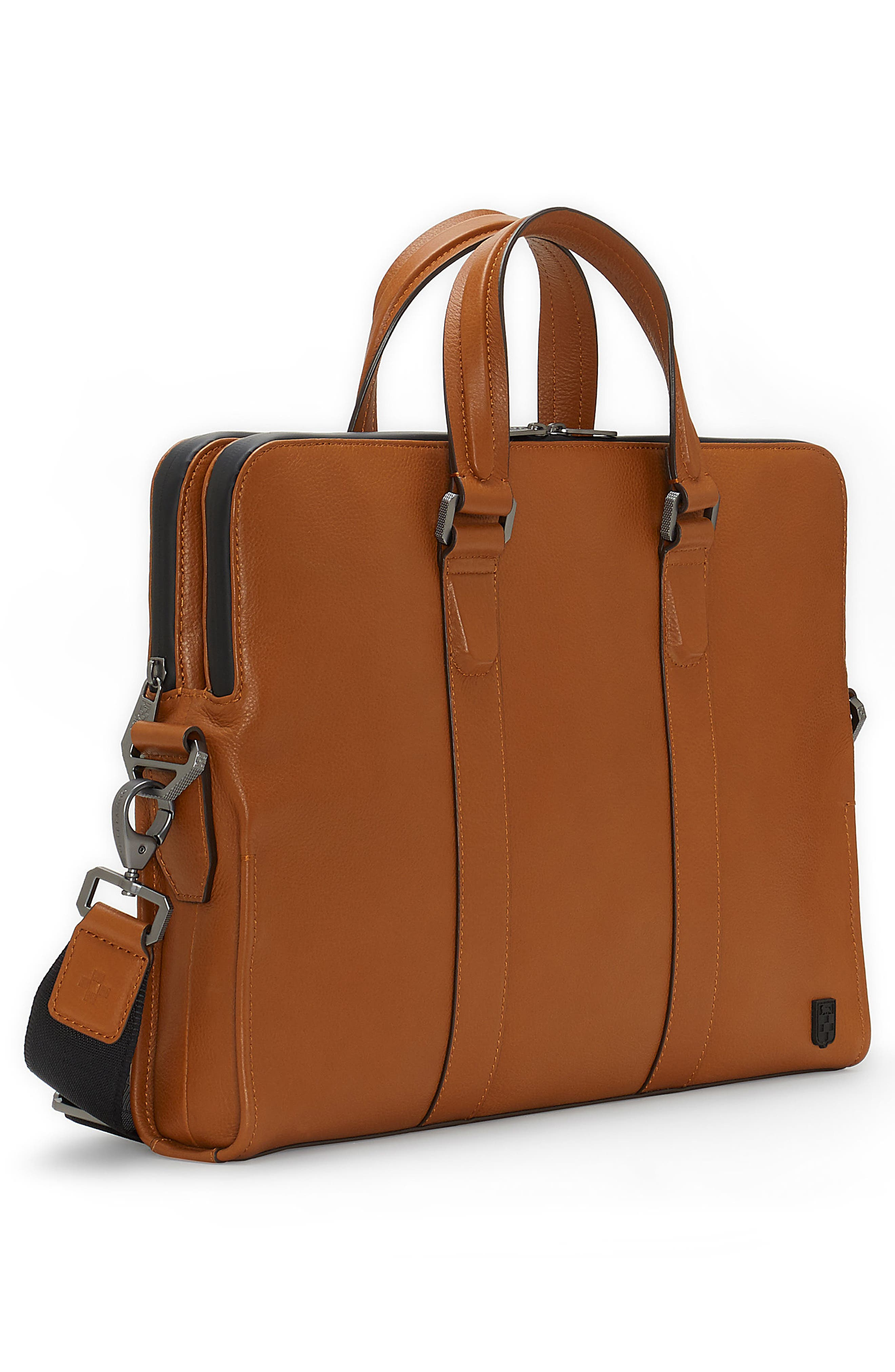 Dopia Leather Briefcase,                             Alternate thumbnail 4, color,                             201