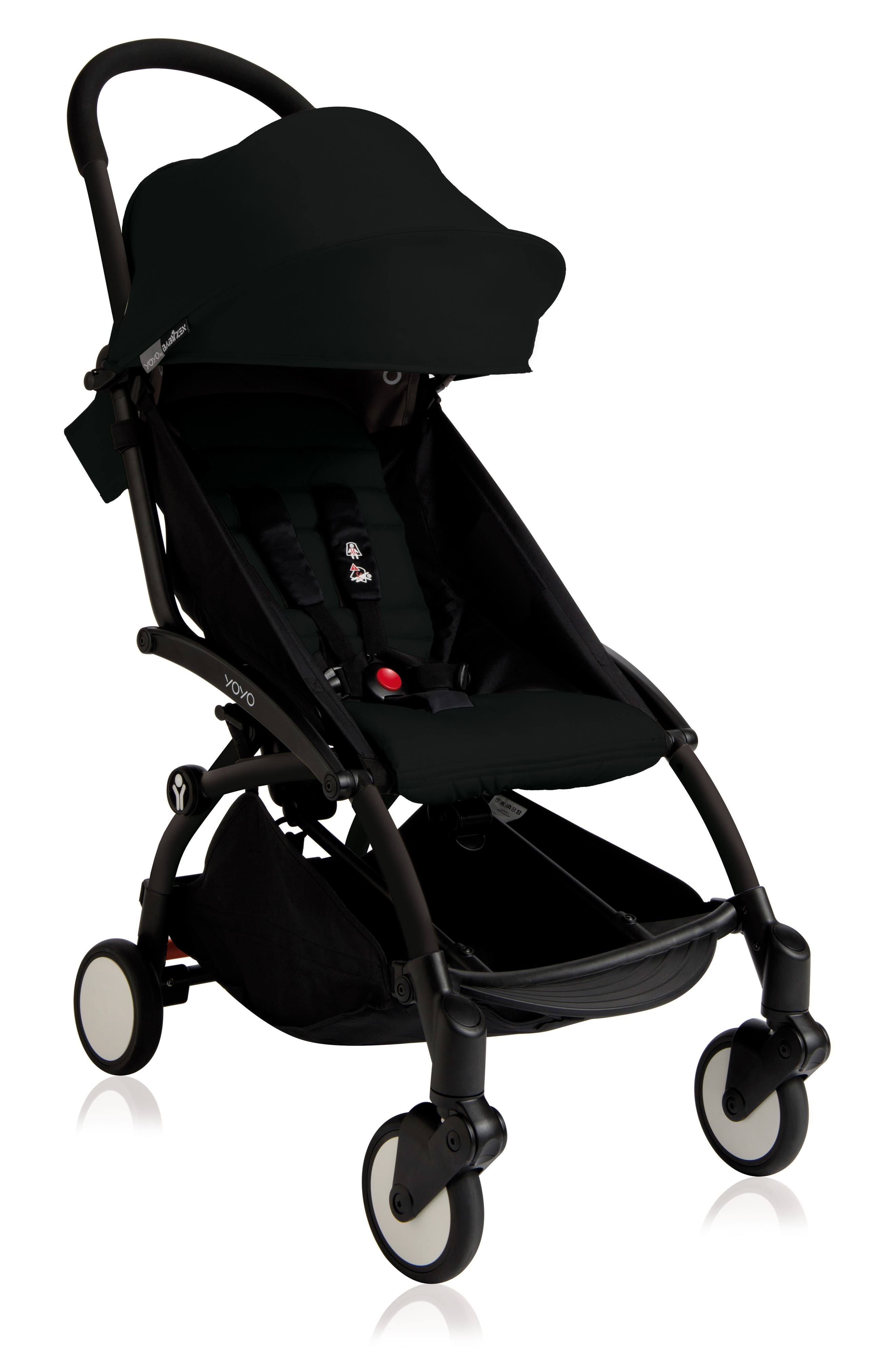 BABYZEN YOYO+ Complete Stroller with Toddler/Little Kid Color Pack Fabric Set,                             Main thumbnail 1, color,                             BLACK/ BLACK