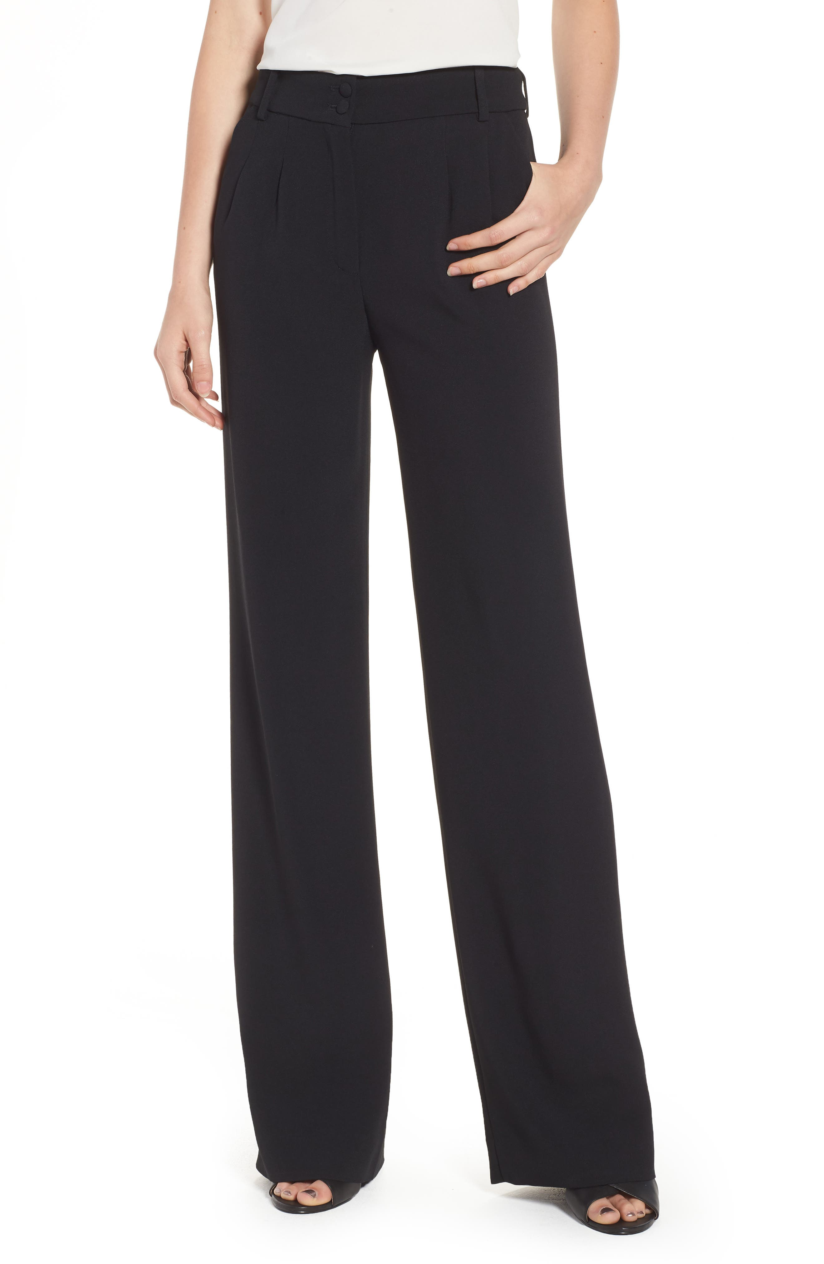 Théofil Silk Trousers,                             Main thumbnail 1, color,                             001