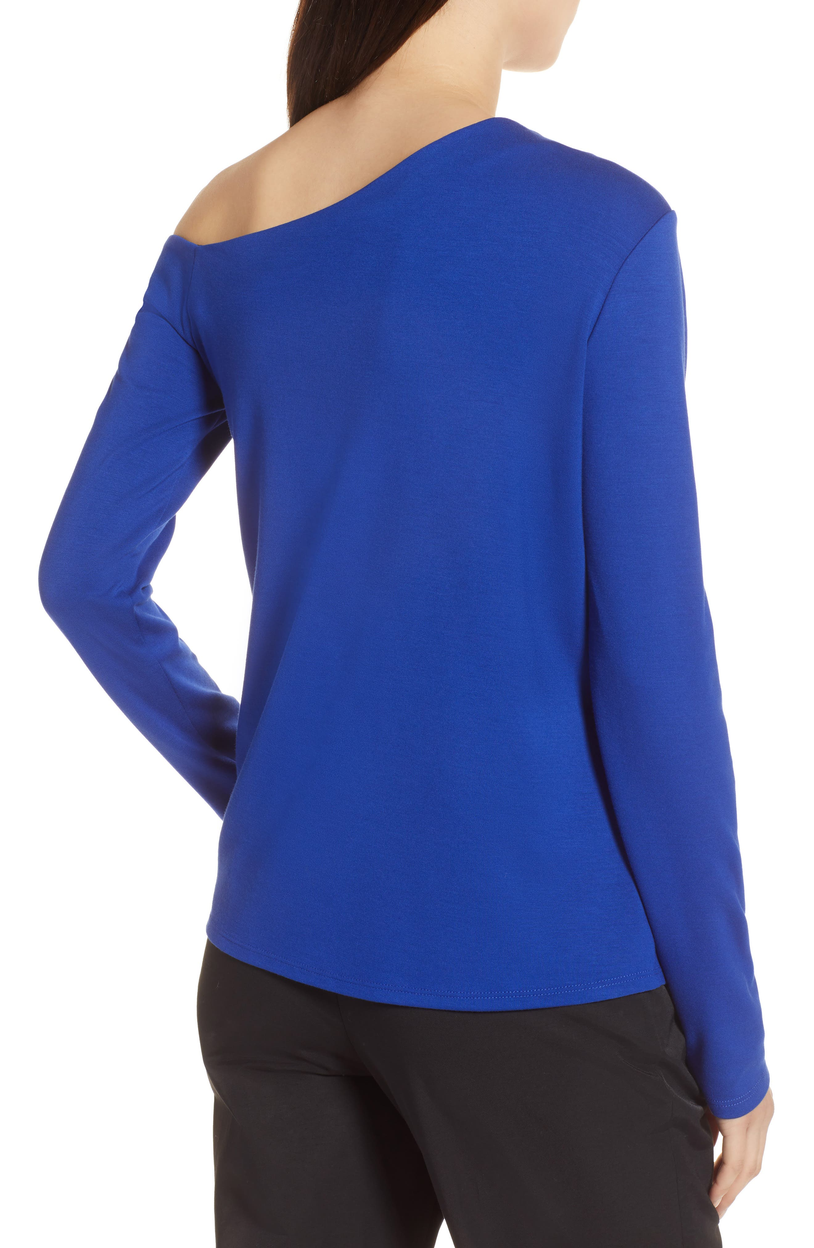 One-Shoulder Knit Tee,                             Alternate thumbnail 8, color,