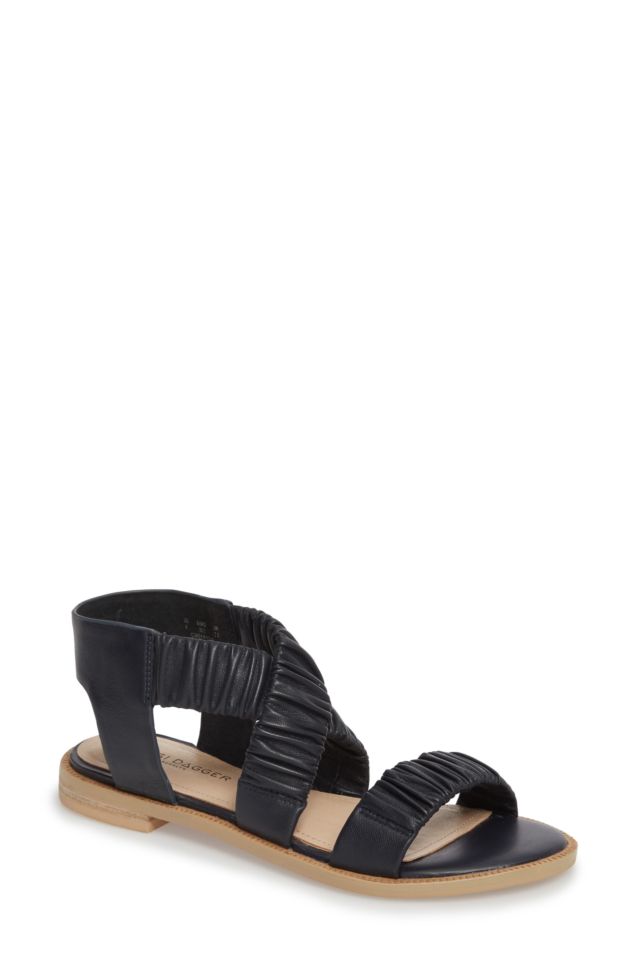Ryder Pleated Flat Sandal,                             Main thumbnail 3, color,