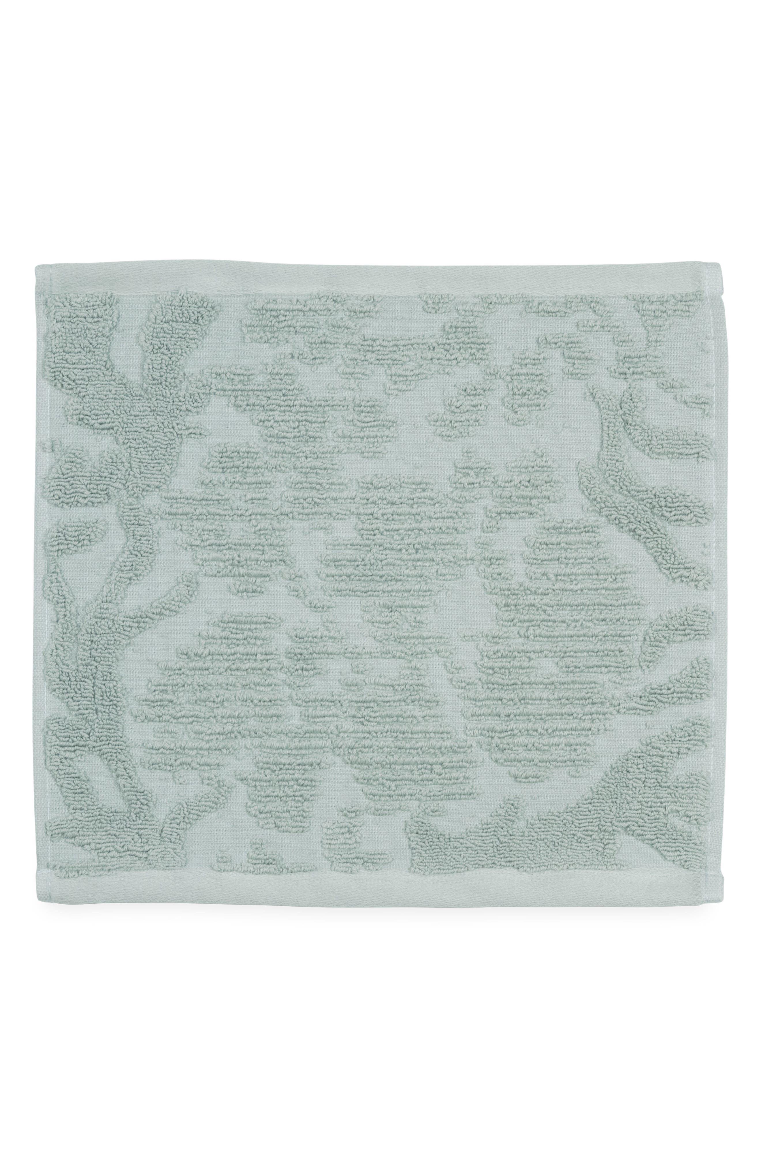 Ocean Reef Washcloth,                         Main,                         color, SEAFOAM