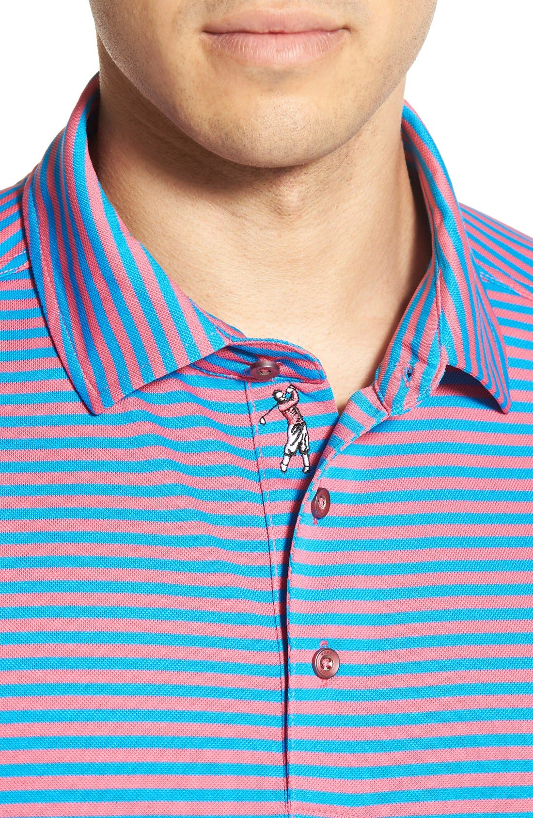 XH2O Feed Stripe Stretch Golf Polo,                             Alternate thumbnail 70, color,