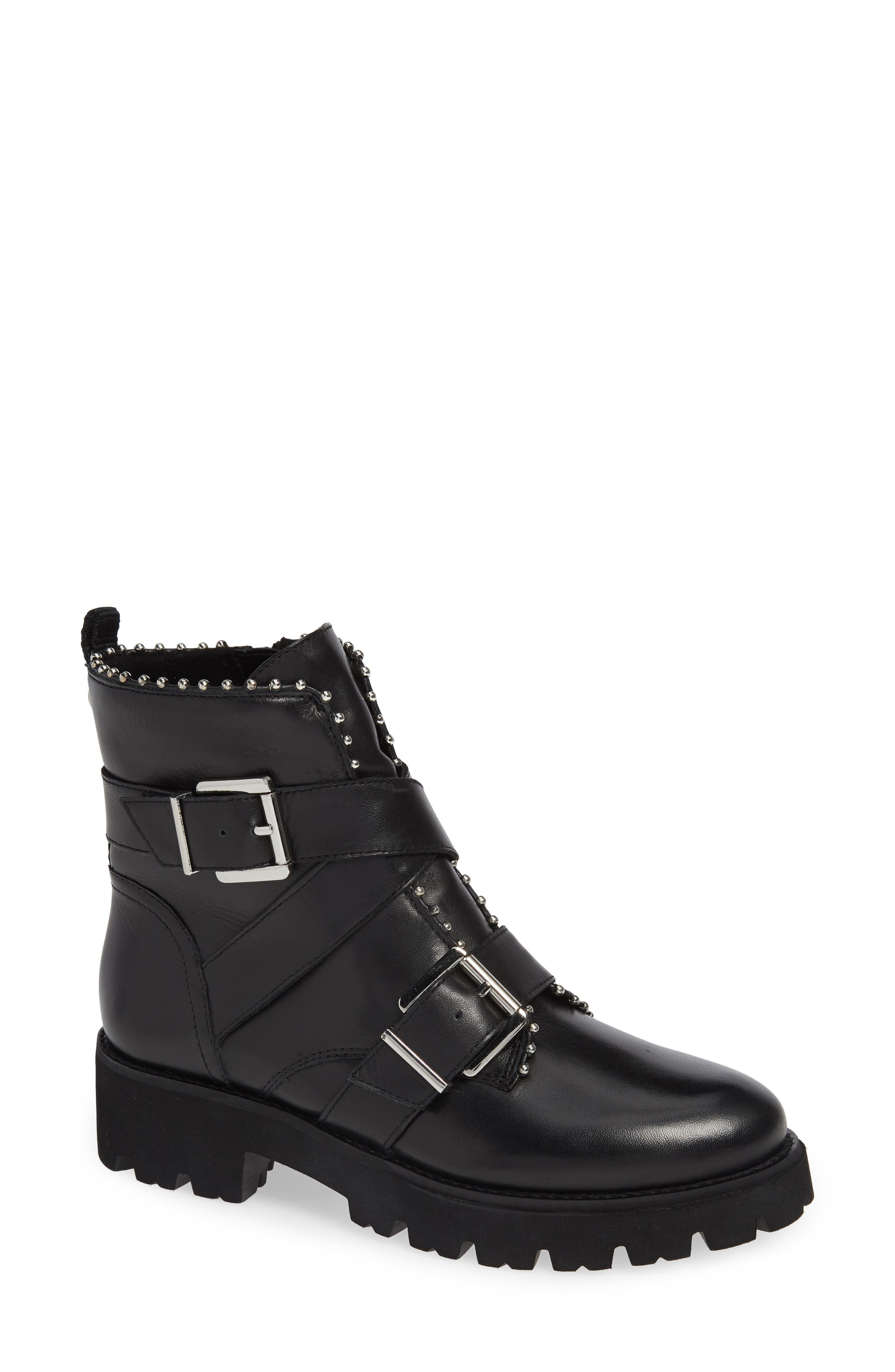 Harbor Bootie,                         Main,                         color, BLACK LEATHER
