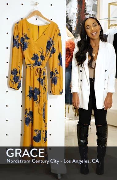 Floral Print Faux Wrap Maxi Dress, sales video thumbnail