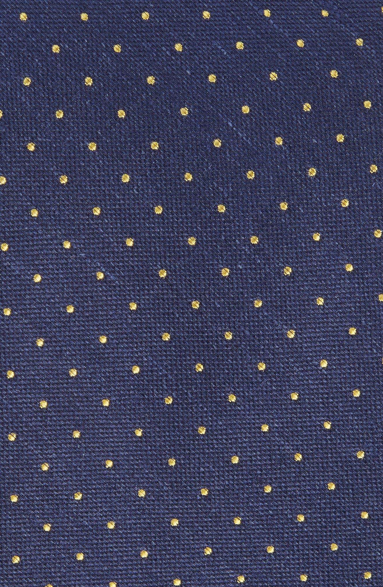 Rivington Dots Silk & Linen Tie,                             Alternate thumbnail 4, color,