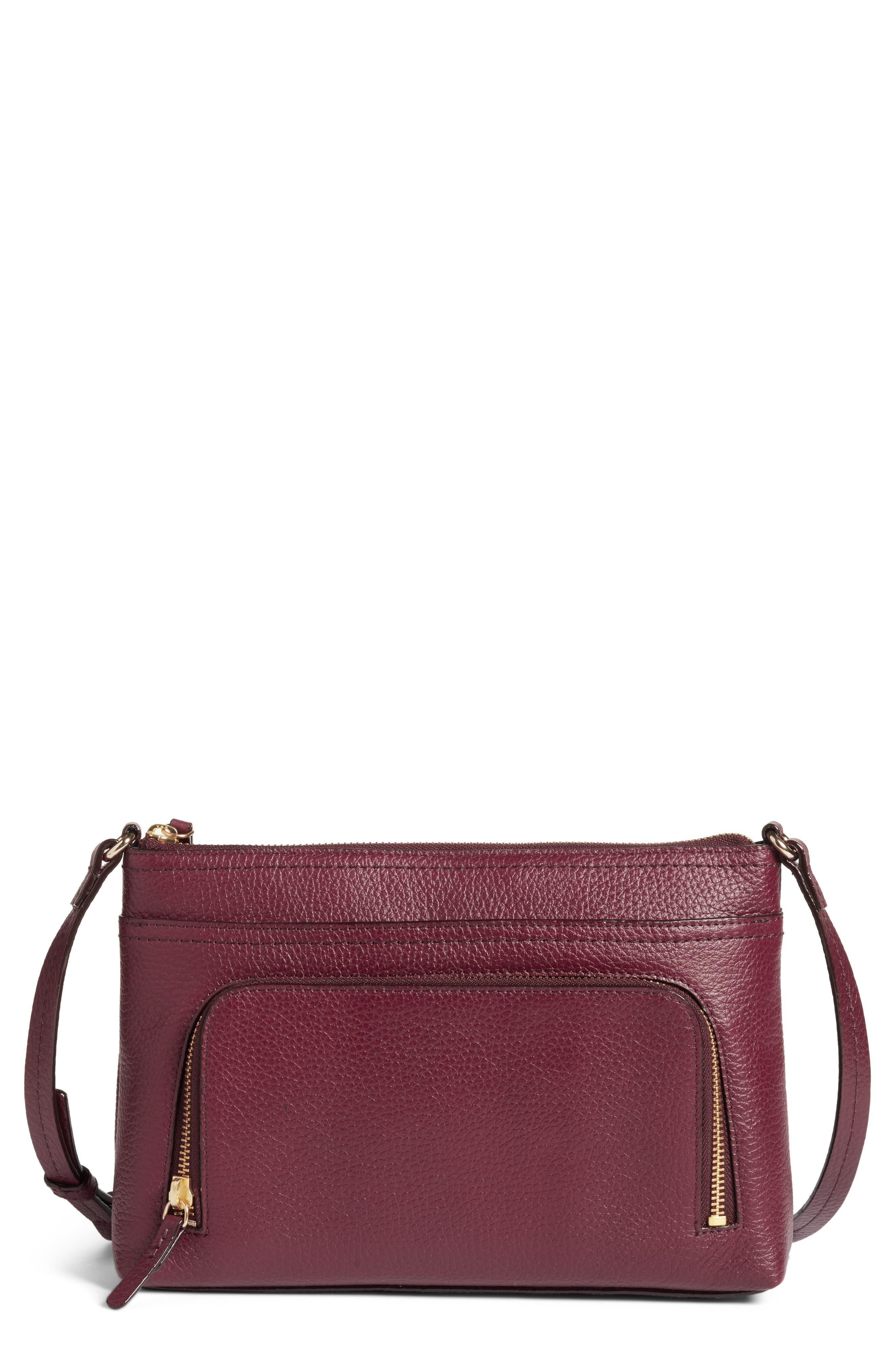 Pebbled Leather Crossbody Bag,                             Main thumbnail 4, color,