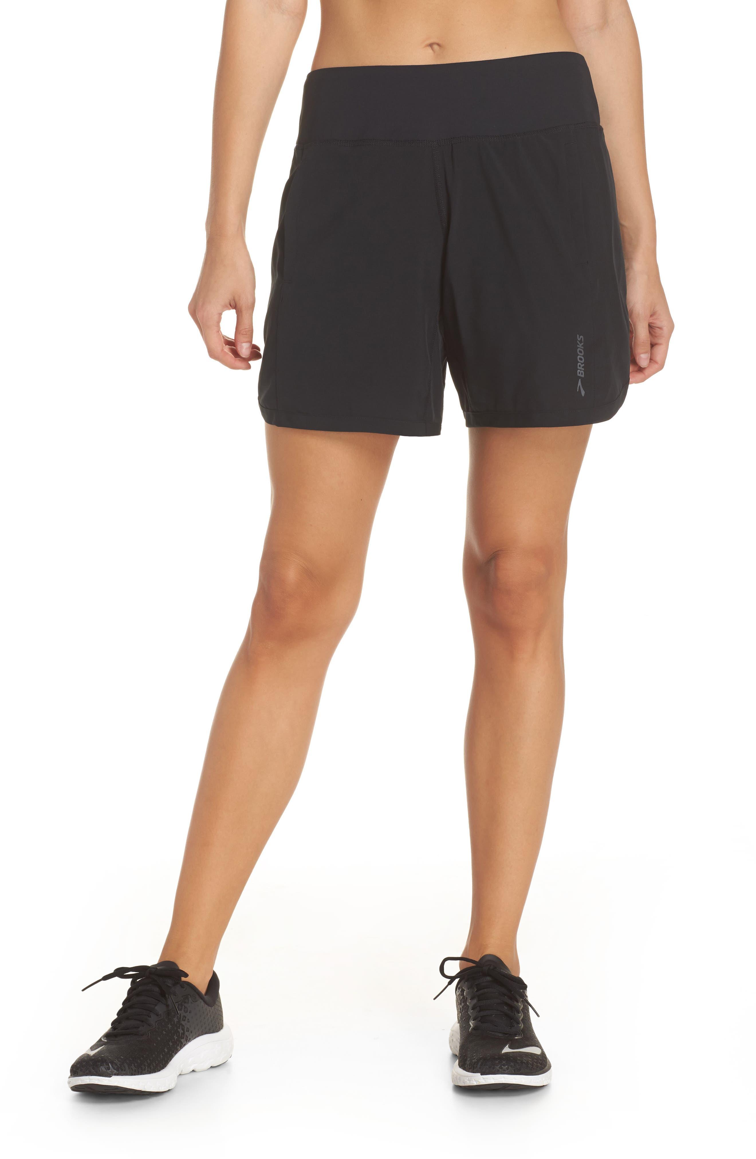 BROOKS,                             Chaser 7 Shorts,                             Main thumbnail 1, color,                             BLACK