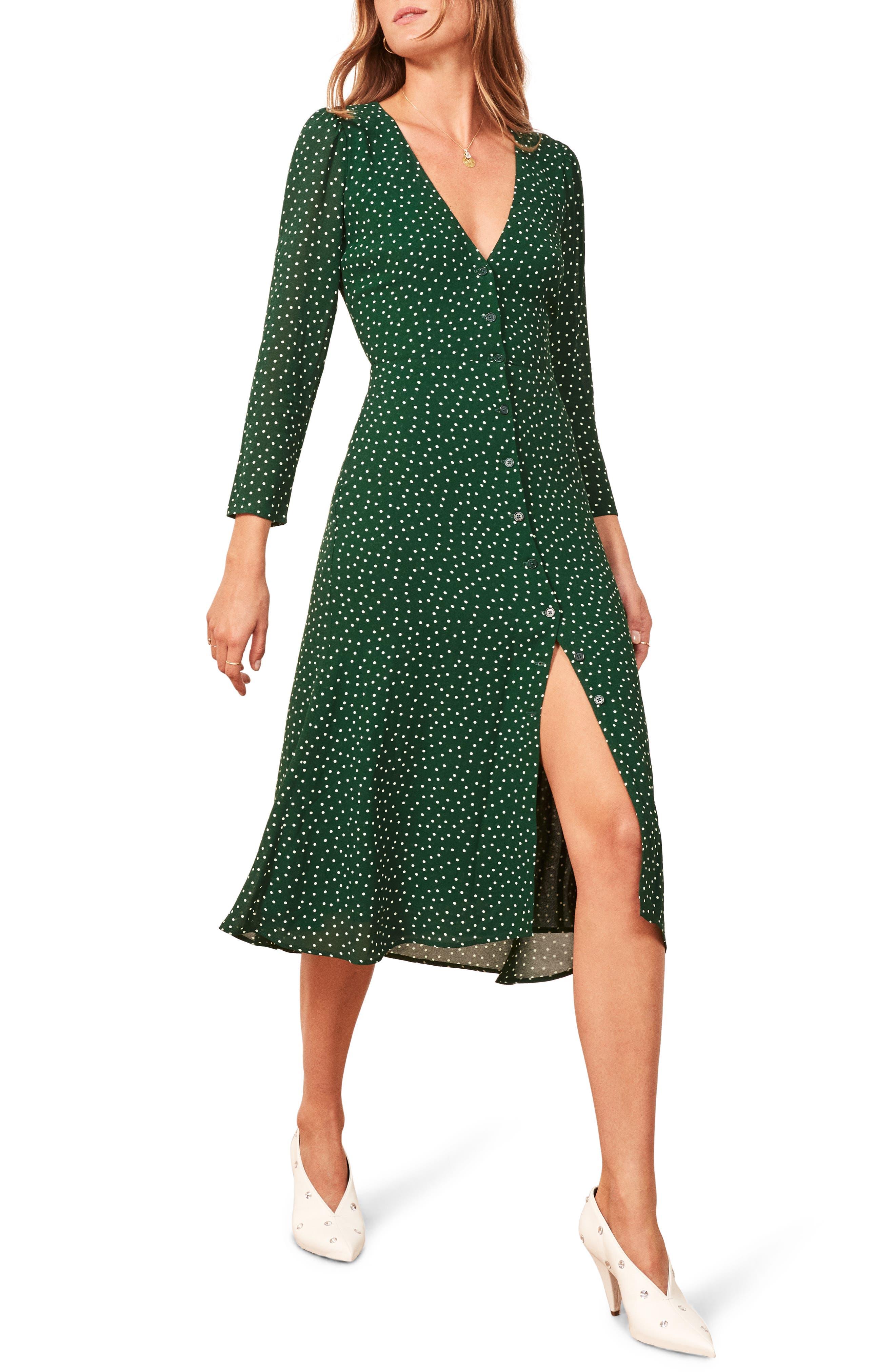 Alma Midi Dress,                         Main,                         color, ROSEMARY
