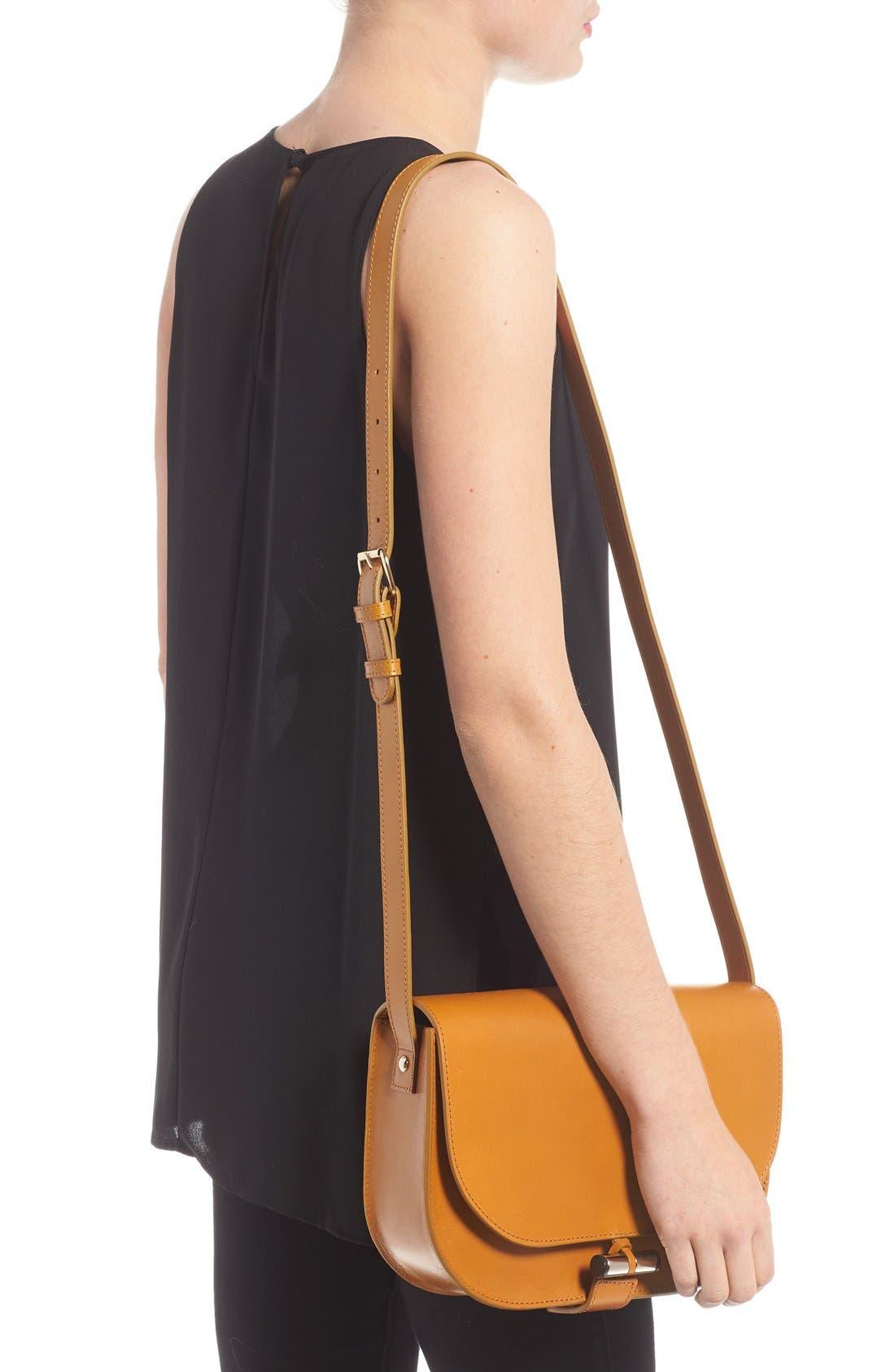 'Sac June' Leather Shoulder Bag,                             Alternate thumbnail 3, color,                             700