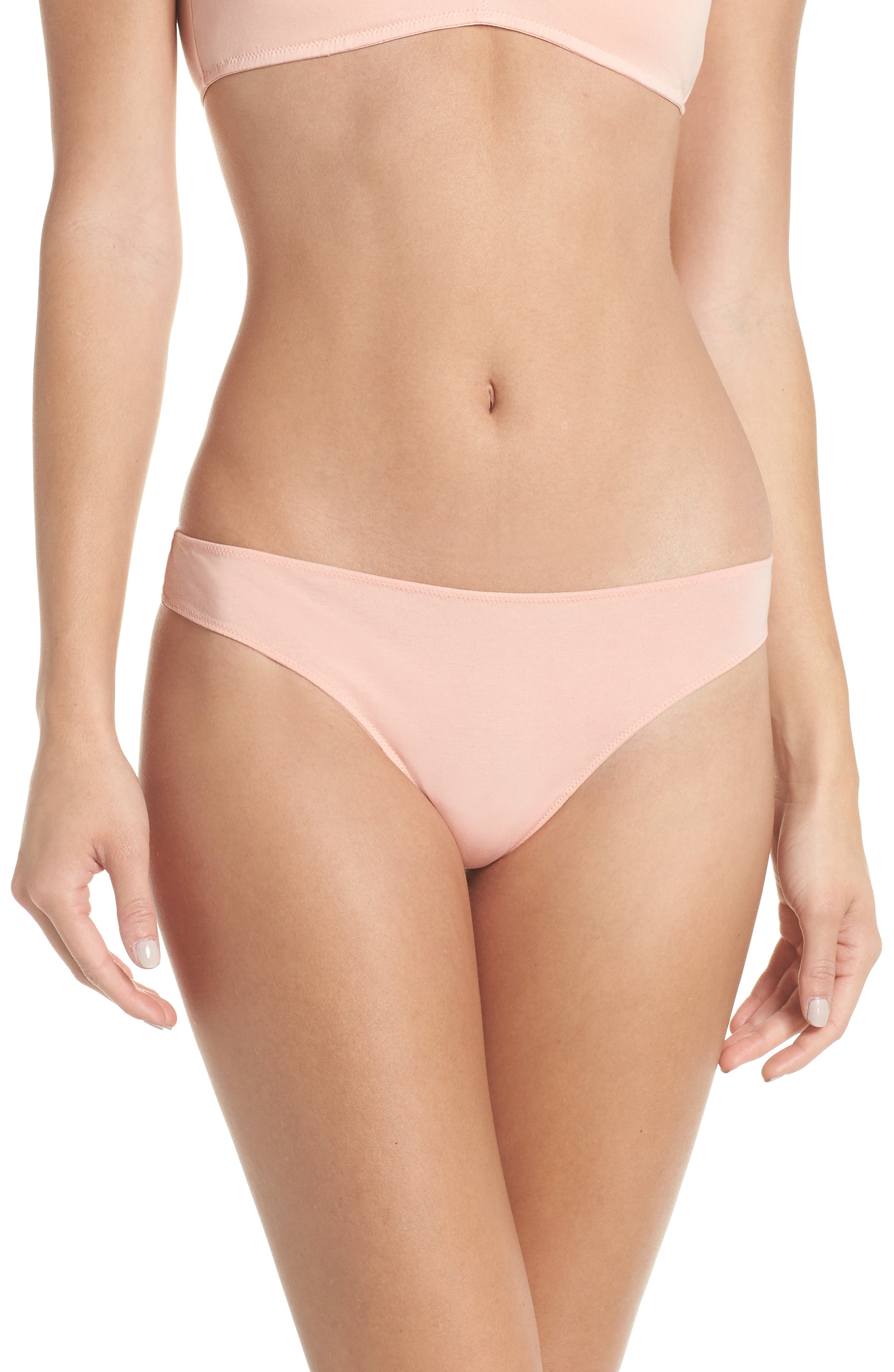 Jersey Thong,                         Main,                         color, BLANCHED CORAL