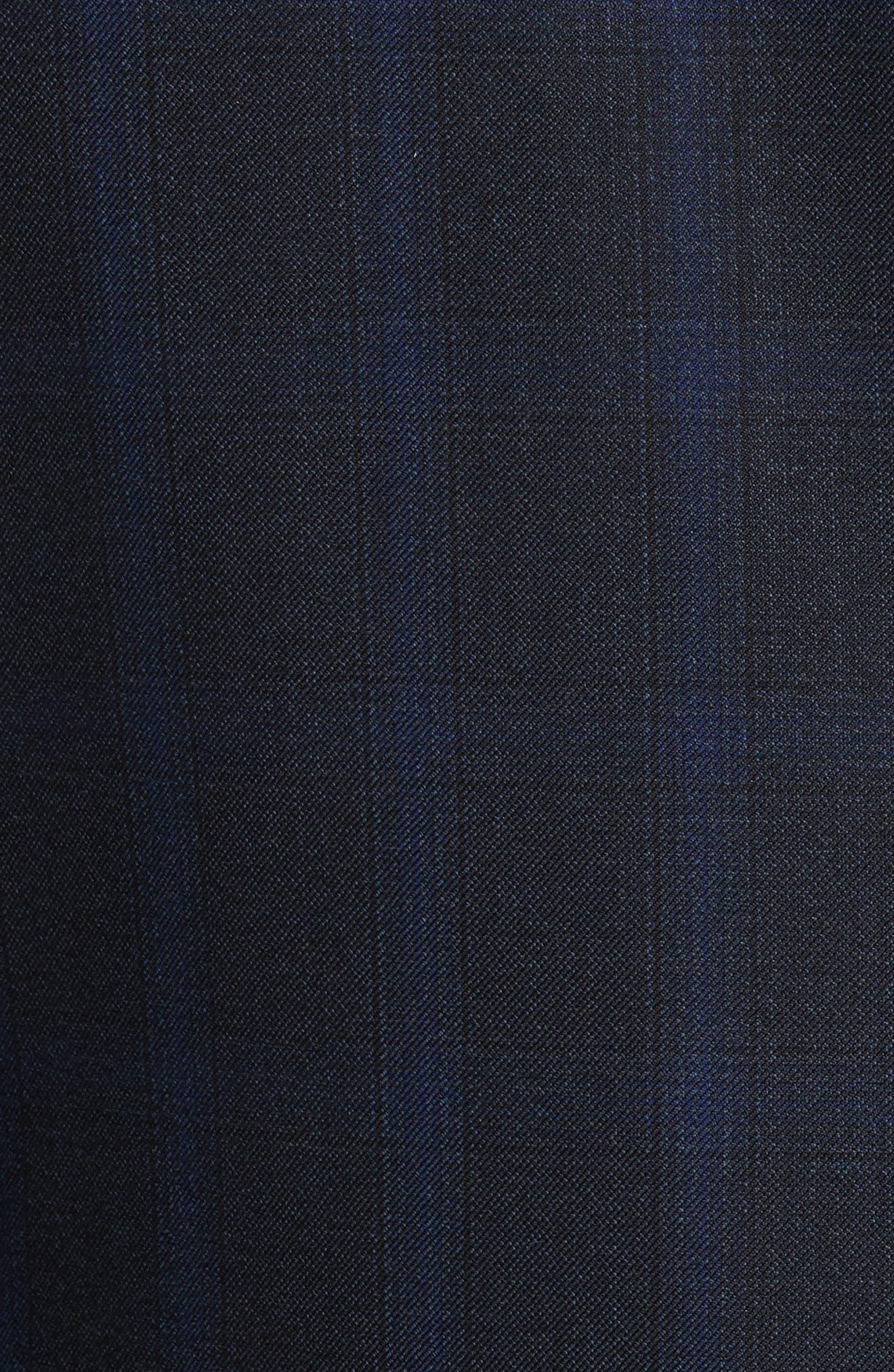 Classic Fit Plaid Wool Suit,                             Alternate thumbnail 7, color,                             400