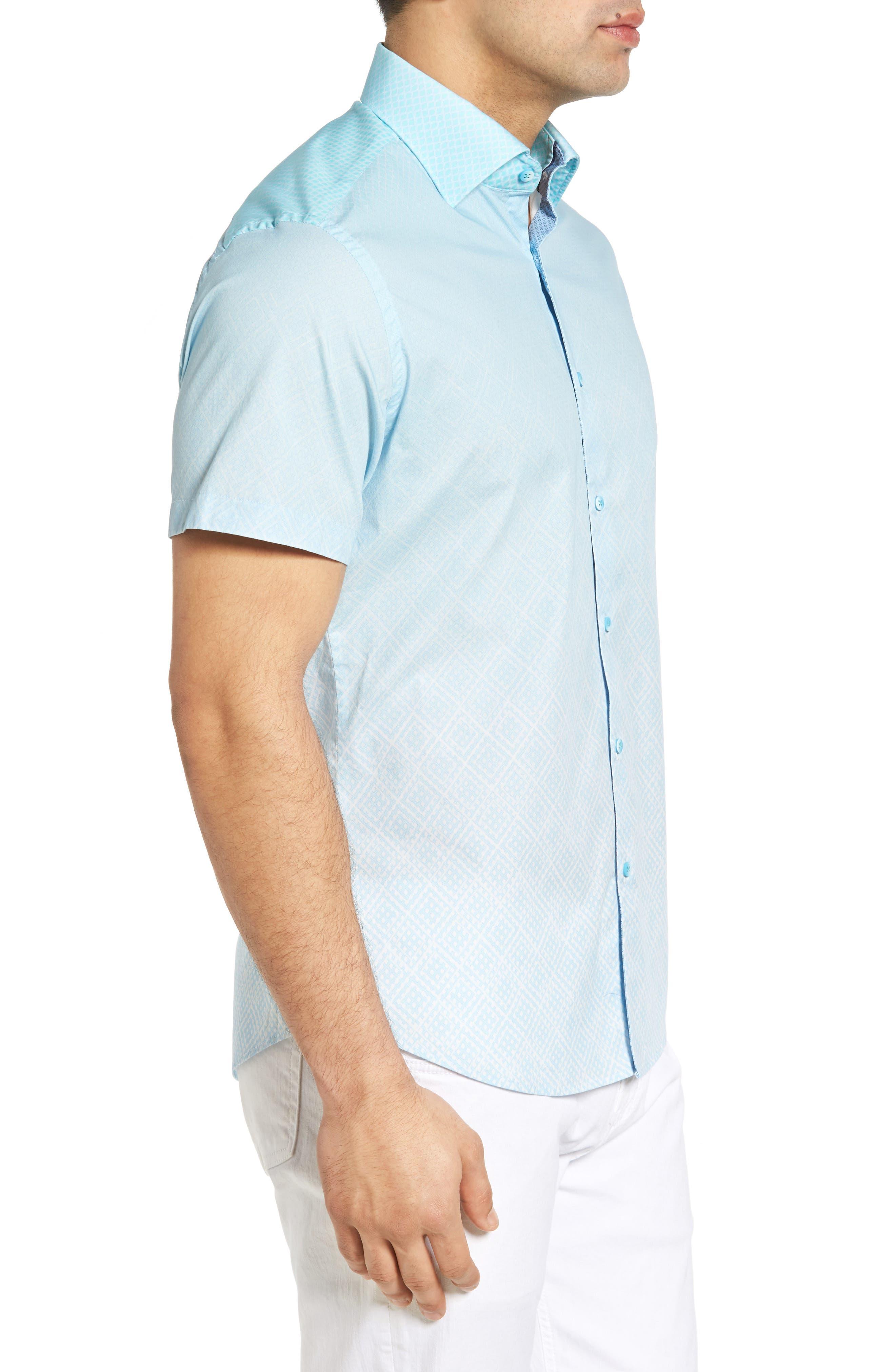 Gradient Diamond Sport Shirt,                             Alternate thumbnail 3, color,                             330