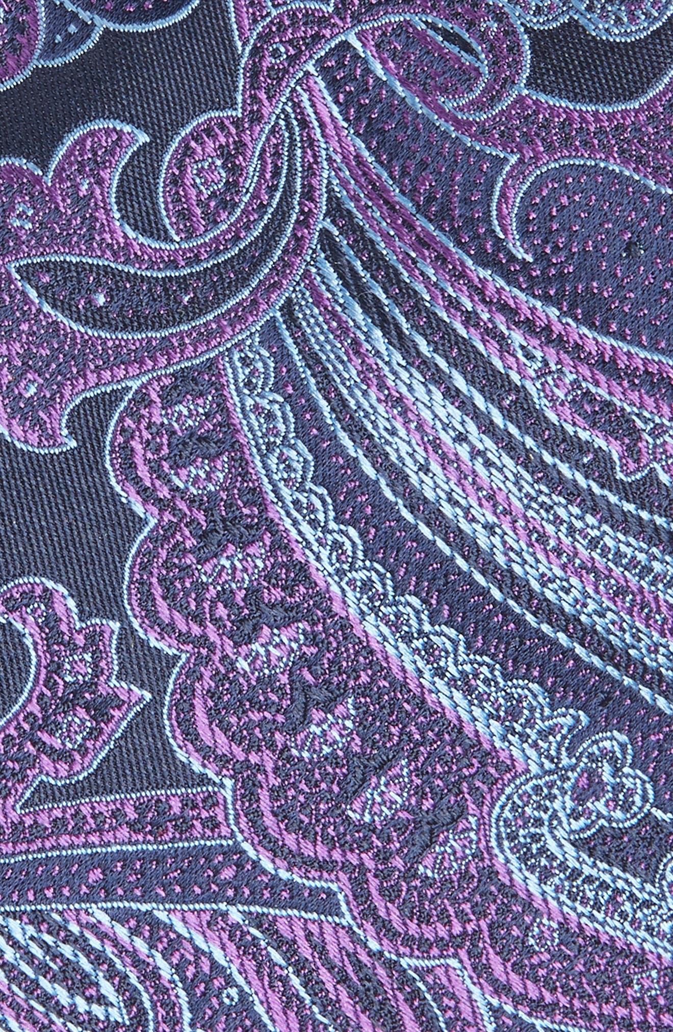 TED BAKER LONDON,                             Paisley Silk Tie,                             Alternate thumbnail 2, color,                             PURPLE