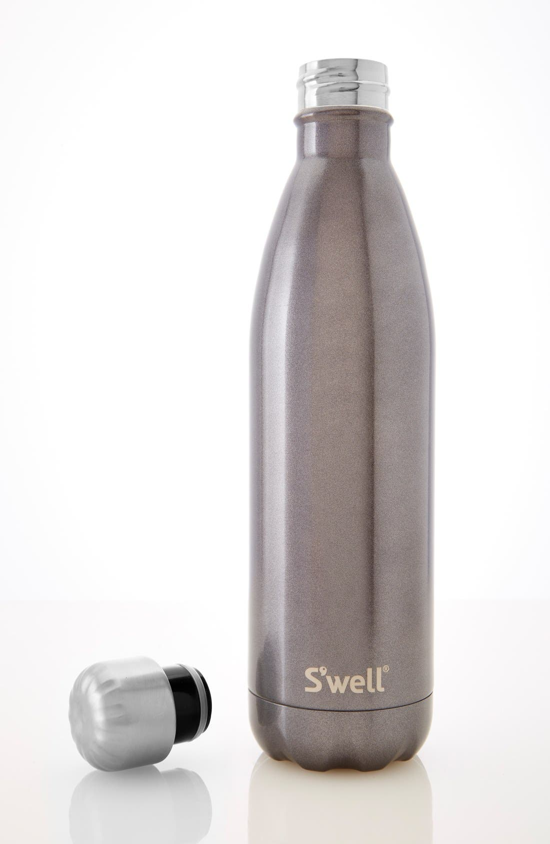 'Glitter Smokey Eye' Insulated Stainless Steel Water Bottle,                             Alternate thumbnail 6, color,                             040