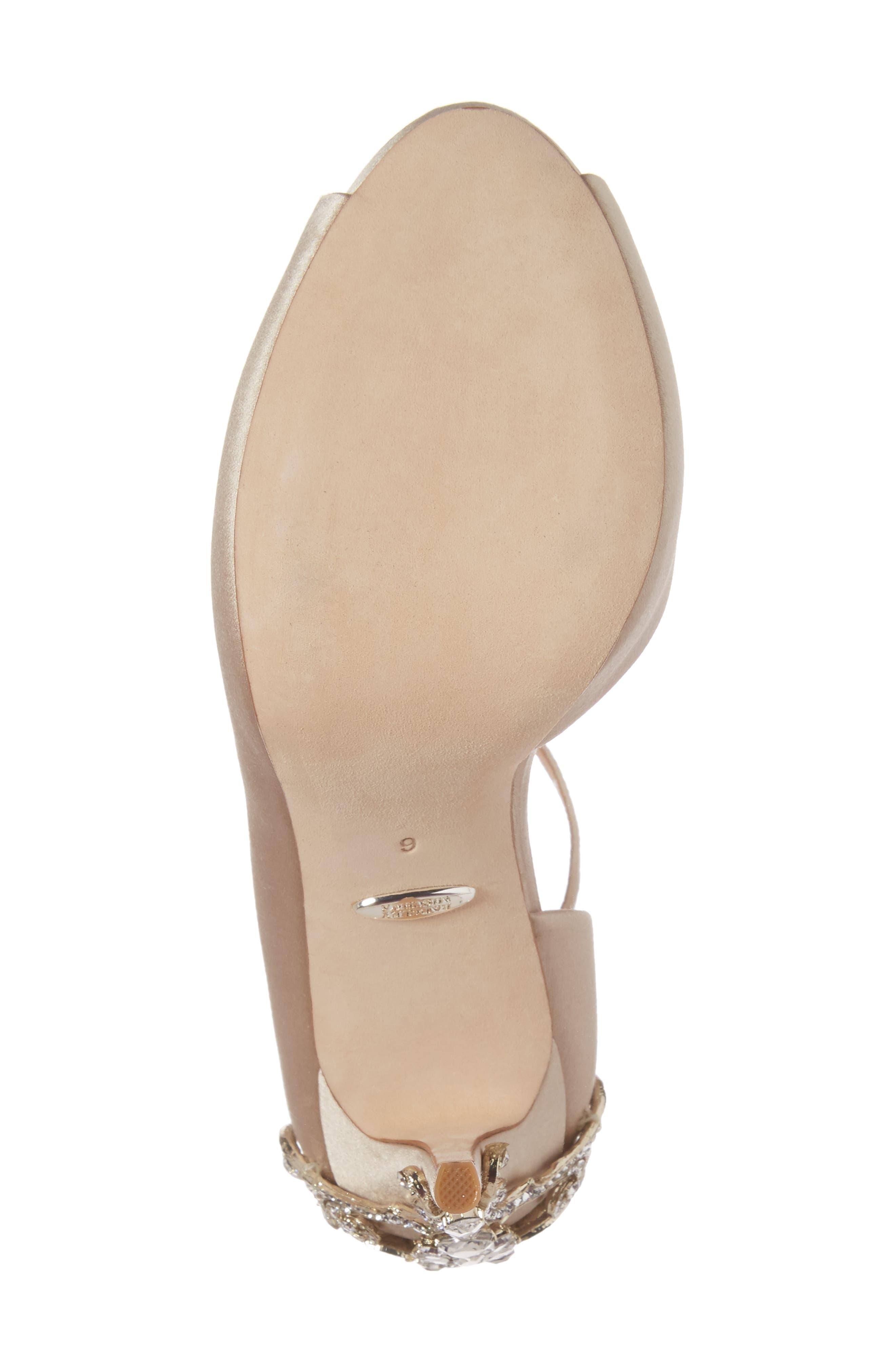 Badgley Micshka Karson Embellished Peep Toe Pump,                             Alternate thumbnail 17, color,
